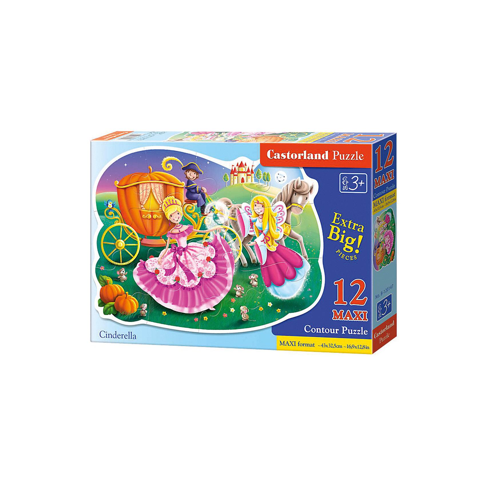 Макси-пазл Castorland Золушка, 12 деталейКлассические пазлы<br>Характеристики:<br><br>• возраст: от 3 лет<br>• количество деталей: 12 деталей MAXI<br>• размер собранного пазла: 45х32,5 см.<br>• материал: картон<br>• упаковка: картонная коробка<br>• размер упаковки: 32x4,7x22 см.<br>• вес: 400 гр.<br>• страна обладатель бренда: Польша<br><br>Из 12 больших элементов пазла ребенок соберет красочную картинку с изображением Золушки, собирающейся на бал. Благодаря фигурной форме картинки, процесс сбора элементов в одно изображение будет увлекательным и интересным.<br><br>Пазл Золушка, 12 деталей MAXI, Castorland (Касторленд) можно купить в нашем интернет-магазине.<br><br>Ширина мм: 320<br>Глубина мм: 220<br>Высота мм: 47<br>Вес г: 400<br>Возраст от месяцев: 36<br>Возраст до месяцев: 2147483647<br>Пол: Женский<br>Возраст: Детский<br>SKU: 6725119