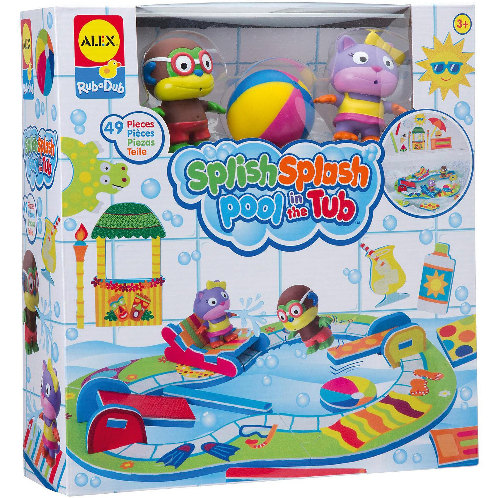 Игрушка для ванны Пляжная вечеринка, ALEXИгрушки для ванной<br>Характеристики:<br><br>• возраст: от 3 лет<br>• в комплекте: 43 красочных наклеек для ванны, брызгалки Кошечка и Обезьянка, пляжный мяч, сетка для хранения<br>• размер упаковки: 90х290х330 мм.<br>• вес: 730 гр.<br><br>Игрушка для ванны «Пляжная вечеринка» от, ALEX (АЛЕКС) привлечет внимание малыша и превратит купание в веселую игру. С помощью красочных наклеек можно организовать пляжную вечеринку для Кошечки и Обезьянки: построить бассейн с горками, шезлонгом, пляжным мячом, дайвинг-досками, тики-баром. <br><br>Наклейки могут свободно плавать на поверхности воды, а также они легко крепятся к влажной стенке ванны и кафелю. Набор для ванны «Пляжная вечеринка» развивает воображение, мелкую моторику, а также помогает ребенку справиться с боязнью воды.<br><br>Игрушку для ванны Пляжная вечеринка, ALEX (АЛЕКС) можно купить в нашем интернет-магазине.<br><br>Ширина мм: 90<br>Глубина мм: 290<br>Высота мм: 330<br>Вес г: 730<br>Возраст от месяцев: 36<br>Возраст до месяцев: 2147483647<br>Пол: Унисекс<br>Возраст: Детский<br>SKU: 6725333