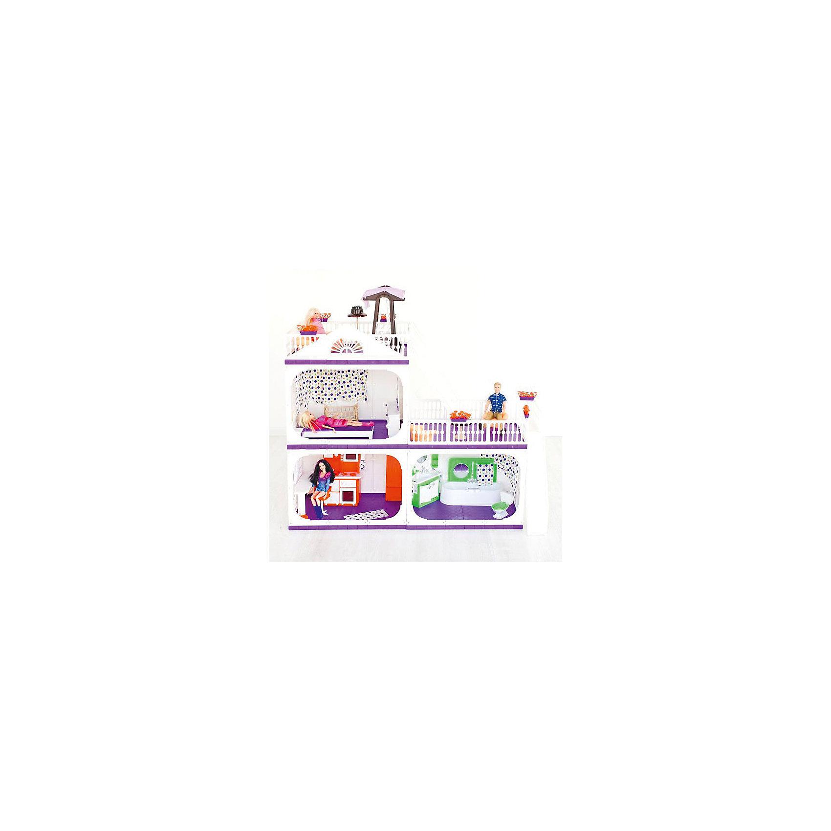 Коттедж для кукол Конфетти, без мебели, ОгонекИгрушечные домики и замки<br>Характеристики товара:<br><br>• возраст: от 3 лет;<br>• материал: пластик;<br>• в комплекте: дом, горшки с цветами, шторы;<br>• подходит для кукол высотой до 30 см;<br>• размер домика: 105х33х90 см;<br>• вес домика: 7 кг;<br>• размер упаковки: 43х23х38 см;<br>• вес упаковки: 8 кг;<br>• страна производитель: Россия.<br><br>Коттедж для кукол «Конфетти» Огонек без мебели — настоящий домик для любимой куколки девочки. Дом подойдет для кукол до 30 см. Коттедж состоит из 3 комнат и 2 террас для летнего отдыха. Двери в комнатах открываются. На окнах висят шторы. На верхние этажи ведут 2 лестницы. Дом изготовлен из качественного прочного пластика.<br><br>Коттедж для кукол «Конфетти» Огонек без мебели можно приобрести в нашем интернет-магазине.<br><br>Ширина мм: 430<br>Глубина мм: 230<br>Высота мм: 380<br>Вес г: 8000<br>Возраст от месяцев: 36<br>Возраст до месяцев: 2147483647<br>Пол: Женский<br>Возраст: Детский<br>SKU: 6725411