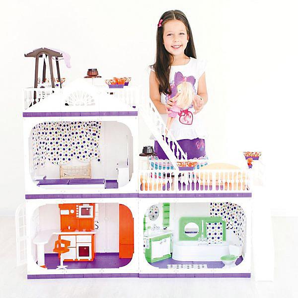 Коттедж для кукол Barbie Конфетти, с мебелью, ОгонекДомики для кукол<br>Характеристики товара:<br><br>• возраст: от 3 лет;<br>• материал: пластик;<br>• в комплекте: дом, ванная, кровать, люлька, качели, кухня, диван, кресла;<br>• подходит для кукол высотой до 30 см;<br>• размер домика: 105х33х90 см;<br>• вес домика: 7 кг;<br>• размер упаковки: 50х46х46 см;<br>• вес упаковки: 10 кг;<br>• страна производитель: Россия.<br><br>Коттедж для кукол Barbie «Конфетти» Огонек — настоящий домик для любимой куколки девочки. Он подойдет для кукол высотой до 30 см. Коттедж состоит из 3 комнат и 2 террас для летнего отдыха. На первом этаже домика расположились ванная и кухня, где кукла будет готовить друзьям вкусные блюда.<br><br>На втором этаже — спальня с кроваткой и люлькой для малыша. Террасы огорожены ажурными ограждениями, на которых висят горшки с цветами. Наверх ведет большая лестница. Двери в домике открываются. Все окна украшены цветными шторками. Дом изготовлен из качественного прочного пластика.<br><br>Коттедж для кукол Barbie «Конфетти» Огонек можно приобрести в нашем интернет-магазине.<br><br>Ширина мм: 460<br>Глубина мм: 460<br>Высота мм: 500<br>Вес г: 10000<br>Возраст от месяцев: 36<br>Возраст до месяцев: 2147483647<br>Пол: Женский<br>Возраст: Детский<br>SKU: 6725413