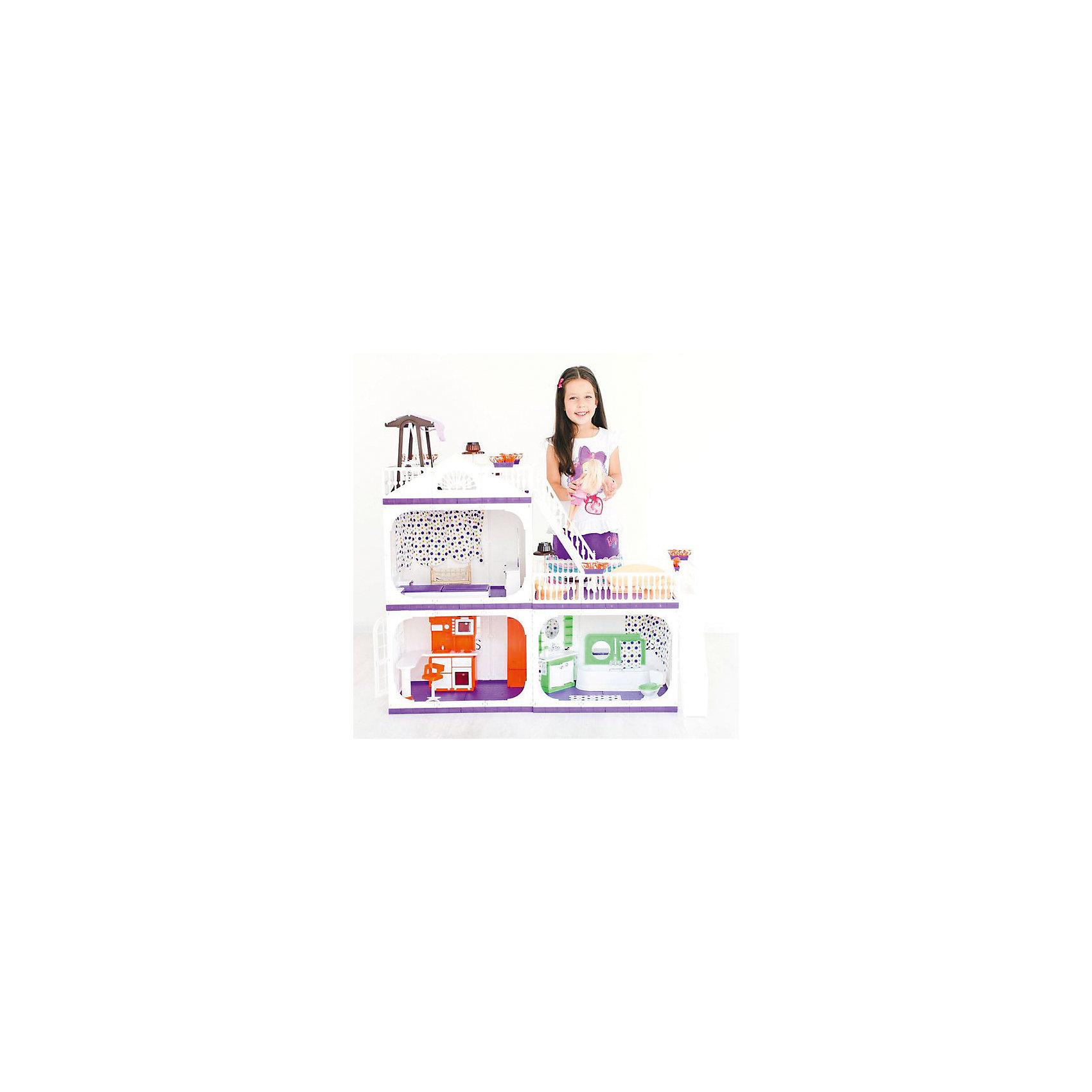 Коттедж для кукол Barbie Конфетти, с мебелью, ОгонекИгрушечные домики и замки<br>Характеристики товара:<br><br>• возраст: от 3 лет;<br>• материал: пластик;<br>• в комплекте: дом, ванная, кровать, люлька, качели, кухня, диван, кресла;<br>• подходит для кукол высотой до 30 см;<br>• размер домика: 105х33х90 см;<br>• вес домика: 7 кг;<br>• размер упаковки: 50х46х46 см;<br>• вес упаковки: 10 кг;<br>• страна производитель: Россия.<br><br>Коттедж для кукол Barbie «Конфетти» Огонек — настоящий домик для любимой куколки девочки. Он подойдет для кукол высотой до 30 см. Коттедж состоит из 3 комнат и 2 террас для летнего отдыха. На первом этаже домика расположились ванная и кухня, где кукла будет готовить друзьям вкусные блюда.<br><br>На втором этаже — спальня с кроваткой и люлькой для малыша. Террасы огорожены ажурными ограждениями, на которых висят горшки с цветами. Наверх ведет большая лестница. Двери в домике открываются. Все окна украшены цветными шторками. Дом изготовлен из качественного прочного пластика.<br><br>Коттедж для кукол Barbie «Конфетти» Огонек можно приобрести в нашем интернет-магазине.<br><br>Ширина мм: 460<br>Глубина мм: 460<br>Высота мм: 500<br>Вес г: 10000<br>Возраст от месяцев: 36<br>Возраст до месяцев: 2147483647<br>Пол: Женский<br>Возраст: Детский<br>SKU: 6725413