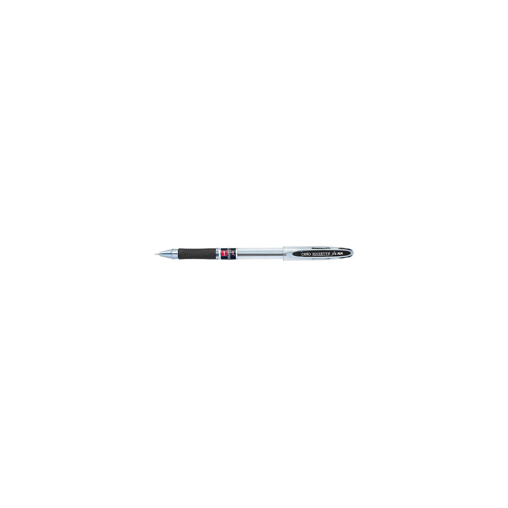 Cello Ручка шариковая MAXRITER XS 0,7мм, чернаяПисьменные принадлежности<br>Ручка MAXRITER XS - это новое прочтение классики. Модель сохраняет все достоинства классической модели MAXRITER: увеличенный запас чернил, обеспечивающий рекордную протяженность письма (4000 м), суперпрочный пишущий узел из сплава никеля и серебра, гарантирующий мягкое и плавное письмо с наименьшими усилиями и эргономичную форму грипа для пальцев, создающую дополнительный комфорт при письме. При этом модель MAXRITER XS имеет более современный дизайн и улучшенную формулу чернил, обеспечивающую еще более гладкое, мягкое и ровное письмо, на стержне окно для контроля уровня чернил. Игольчатый пишущий узел толщиной 0,7 мм, цвет чернил - черный.<br><br>Ширина мм: 148<br>Глубина мм: 10<br>Высота мм: 15<br>Вес г: 10<br>Возраст от месяцев: 36<br>Возраст до месяцев: 2147483647<br>Пол: Унисекс<br>Возраст: Детский<br>SKU: 6725438