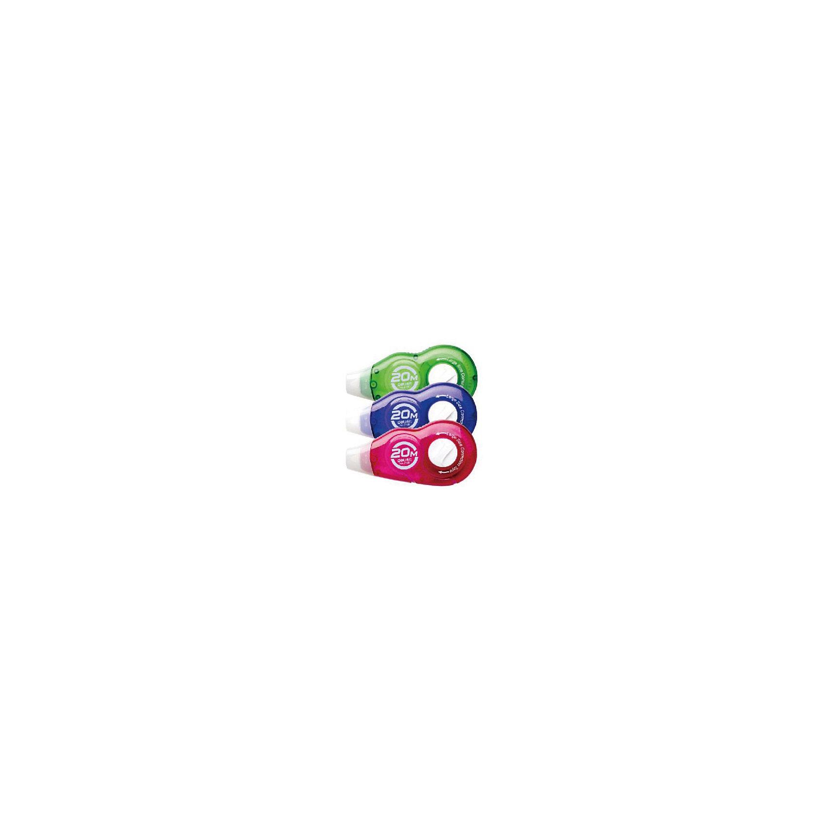 Deli Лента корректирующая 20мх5мм, цвета корпуса в ассортиментеШкольные аксессуары<br>Корректирующая лента в пластиковом корпусе с колпачком. Длина ленты 20 метров, ширина 5 мм. Лента устойчива к разрывам, корректирующий слой равномерно наносится, быстро сохнет. Есть возможность ручной подкрутки ленты.<br><br>Ширина мм: 125<br>Глубина мм: 80<br>Высота мм: 20<br>Вес г: 12<br>Возраст от месяцев: 36<br>Возраст до месяцев: 2147483647<br>Пол: Унисекс<br>Возраст: Детский<br>SKU: 6725459
