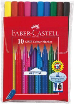 Faber-Castell Фломастеры GRIP в футляре, 10 цветов