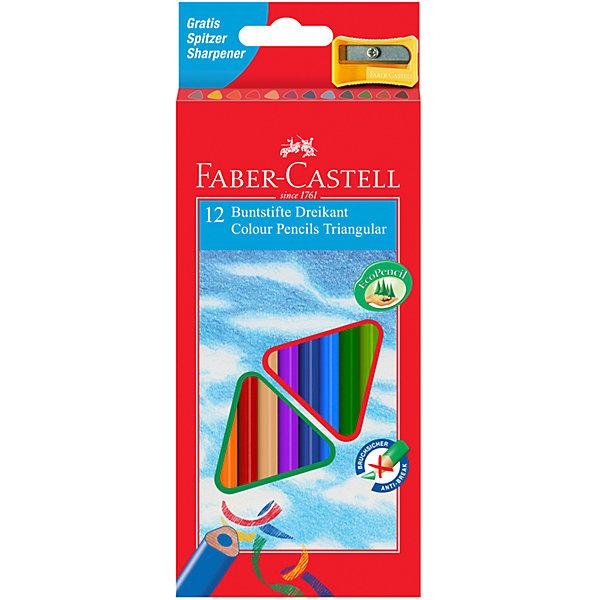 Faber-Castell Карандаши цветные Eco с точилкой, 12 цветовКарандаши для творчества<br>Трехгранные цветные карандаши цветные Faber-Castell Eco в комплекте с точилкой - это карандаши удобной эргономической формы. Яркие, насыщенные цвета. Специальная технология вклеивания грифеля делает его более прочным и снижает ломкость. Карандаши покрыты лаком на водной основе – бережным по отношению к окружающей среде и здоровью детей. Качественная древесина – гарантия легкого затачивания при помощи стандартных точилок. Карандаши отстирываются с большинства тканей.<br>Ширина мм: 110; Глубина мм: 145; Высота мм: 19; Вес г: 83; Возраст от месяцев: 72; Возраст до месяцев: 2147483647; Пол: Унисекс; Возраст: Детский; SKU: 6725467;