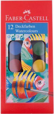 Faber-Castell Краски акварельные Watercolours с кисточкой, 12 цветов