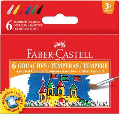 Faber-Castell Гуашь а баночках 15 мм, 6 цветов фото-1