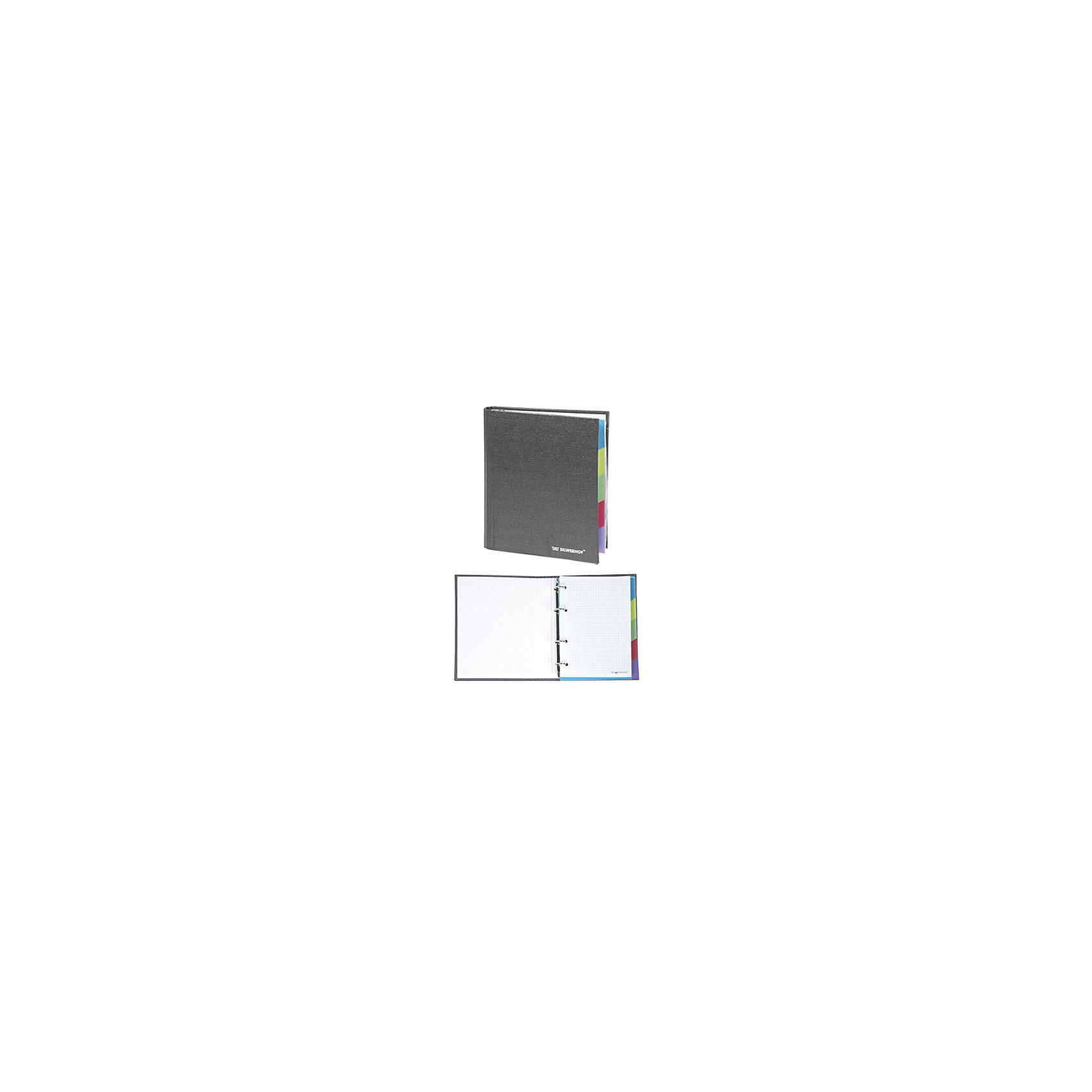 Silwerhof Тетрадь на кольцах А5 LINEA 160 листов, с разделителями, сераяБумажная продукция<br>Тетрадь на кольцах формата А5 160 листов, с пятью цветными разделителями. Плотная обложка, покрытая современным переплетным материалом балакрон.<br><br>Ширина мм: 220<br>Глубина мм: 160<br>Высота мм: 45<br>Вес г: 175<br>Возраст от месяцев: 72<br>Возраст до месяцев: 2147483647<br>Пол: Унисекс<br>Возраст: Детский<br>SKU: 6725492