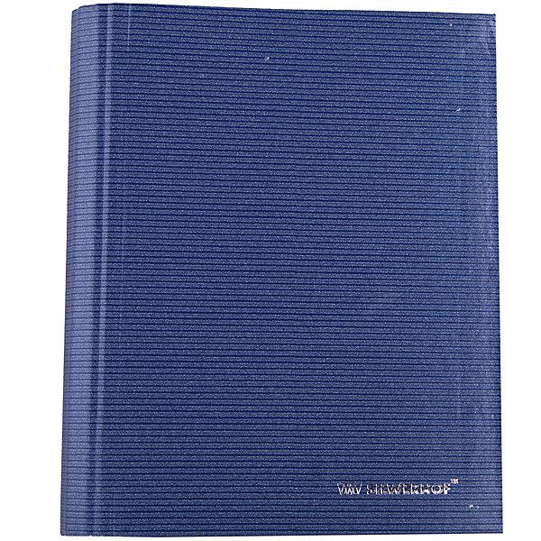 Купить Silwerhof Тетрадь на кольцах А5 LINEA 160 листов с разделителями, синяя, Россия, Унисекс