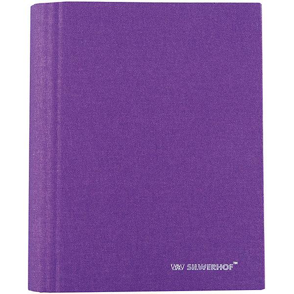 Купить Silwerhof Тетрадь на кольцах А5 LOUISIANA 160 листов с разделителями, сиреневая, Россия, Унисекс
