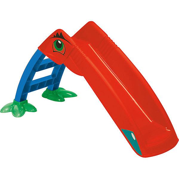 Горка - Пеликан, красная, PalPlayГорки<br>Характеристики:<br><br>• возраст: от 1,5 лет<br>• максимальная нагрузка: 25 кг.<br>• материал: пластик<br>• размер в собранном виде: 135х41х56 см.<br>• вес: 3,9 кг.<br><br>Пластиковая горка «Пеликан» предназначена для использования на улице. Горка состоит из лесенки и желоба для скатывания. Яркая расцветка, забавные накладки в виде птичьих лапок на основании лестницы и дополнительные наклейки придают горке вид экзотической птицы, что, несомненно, заинтересует ребенка и украсит игровую площадку во дворе.<br>Горка легко и быстро собирается без использования инструментов. Не смотря на небольшой вес в собранном состоянии, горка очень устойчивая.<br><br>Горка «Пеликан» изготовлена из яркого, прочного, нетоксичного пластика, имеющего высокую степень устойчивости к внешним механическим воздействиям. Покрыта безопасными, устойчивыми к осадкам и выцветанию красителями.<br><br>Горку - Пеликан, красную, PalPlay можно купить в нашем интернет-магазине.<br><br>Ширина мм: 1250<br>Глубина мм: 240<br>Высота мм: 510<br>Вес г: 4790<br>Возраст от месяцев: 24<br>Возраст до месяцев: 2147483647<br>Пол: Унисекс<br>Возраст: Детский<br>SKU: 6725741