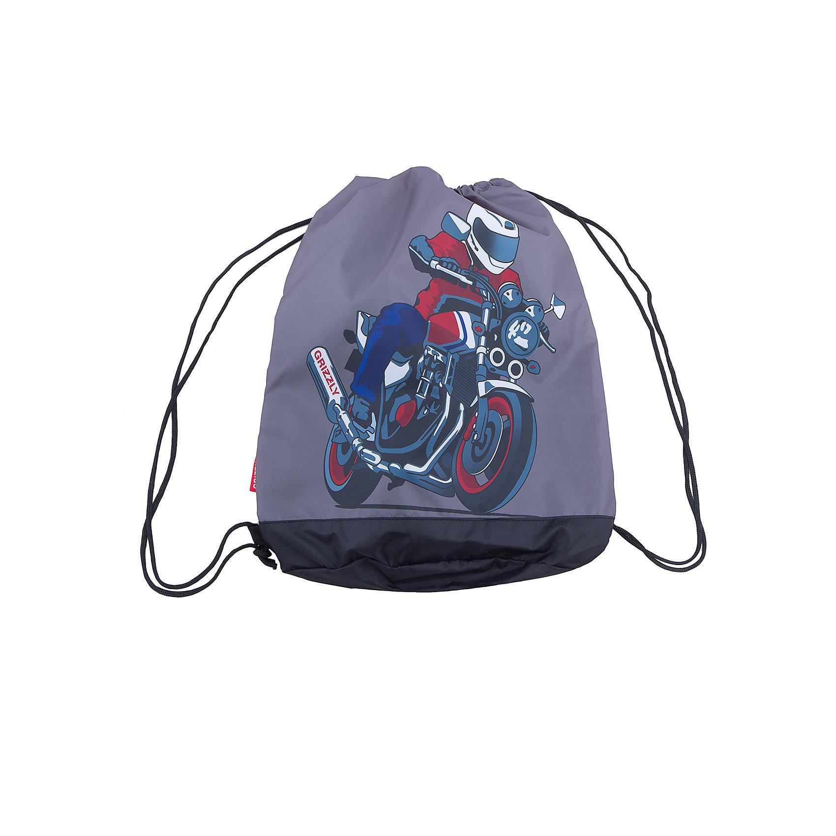 Grizzly мешок для обуви 1 отделениеМешки для обуви<br>Объемный мешок для обуви, одно отделение, боковой карман на молнии, дополнительная ручка-петля, лямки из шнура.<br>Вес, г: 210<br>Размер, см: 38х50х11<br>Состав: оксфорд 240Д, нейлон 420Д<br>Наличие светоотражающих элементов:  нет<br>Материал: оксфорд 240Д, нейлон 420Д<br>Спина:  нет<br>Наличие дополнительных карманов внутри:  да<br>Дно выбрать:  Мягкое<br>Количество отделений внутри:  1<br>Боковые карманы: да<br>Замок:  Молния<br>Вмещает А4:  да<br><br>Ширина мм: 380<br>Глубина мм: 110<br>Высота мм: 500<br>Вес г: 10<br>Возраст от месяцев: 72<br>Возраст до месяцев: 120<br>Пол: Мужской<br>Возраст: Детский<br>SKU: 6727444