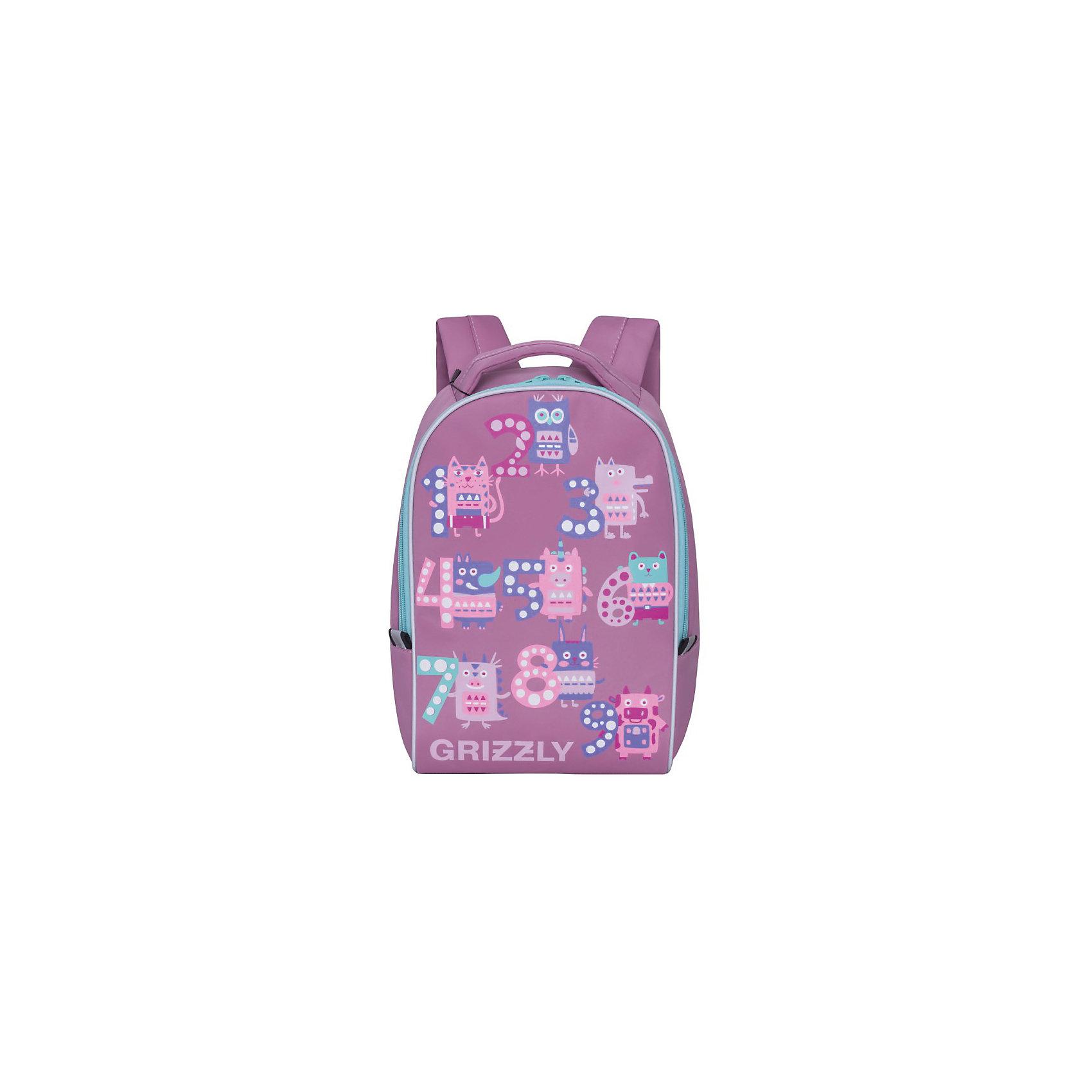 Grizzly рюкзак детский 1 отделениеРюкзаки<br>Рюкзак малый, одно отделение, укрепленная спинка, мягкая укрепленная ручка, укрепленные лямки, светоотражающие элементы с четырех сторон.<br>Вес, г: 291<br>Размер, см: 25х33х13<br>Состав: Нейлон<br>Наличие светоотражающих элементов:  да<br>Материал: Нейлон<br>Спина:  полужесткая<br>Наличие дополнительных карманов внутри:  да<br>Дно выбрать:  Мягкое<br>Количество отделений внутри:  1<br>Боковые карманы: нет<br>Замок:  Молния<br>Вмещает А4:  да<br><br>Ширина мм: 250<br>Глубина мм: 130<br>Высота мм: 330<br>Вес г: 291<br>Возраст от месяцев: 60<br>Возраст до месяцев: 84<br>Пол: Женский<br>Возраст: Детский<br>SKU: 6727451