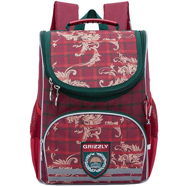 Рюкзак школьный Grizzly 1 отделениеРюкзаки<br>Рюкзак школьный, одно отделение, объемный карман на молнии на передней стенке, боковые карманы из сетки, откидное жесткое дно, разделительная перегородка-органайзер, укрепленная спинка, дополнительная ручка-петля, укрепленные лямки, брелок-катафот, светоотражающие элементы с четырех сторон.<br>Вес, г: 730<br>Размер, см: 25х33х13<br>Состав: Полиэстр<br>Наличие светоотражающих элементов:  да<br>Материал: Полиэстр<br>Спина:  жесткая<br>Наличие дополнительных карманов внутри:  нет<br>Дно выбрать:  жесткое<br>Количество отделений внутри:  1<br>Боковые карманы: да<br>Замок:  Молния<br>Вмещает А4:  да<br>Ширина мм: 250; Глубина мм: 130; Высота мм: 330; Вес г: 693; Возраст от месяцев: 72; Возраст до месяцев: 120; Пол: Женский; Возраст: Детский; SKU: 6727504;