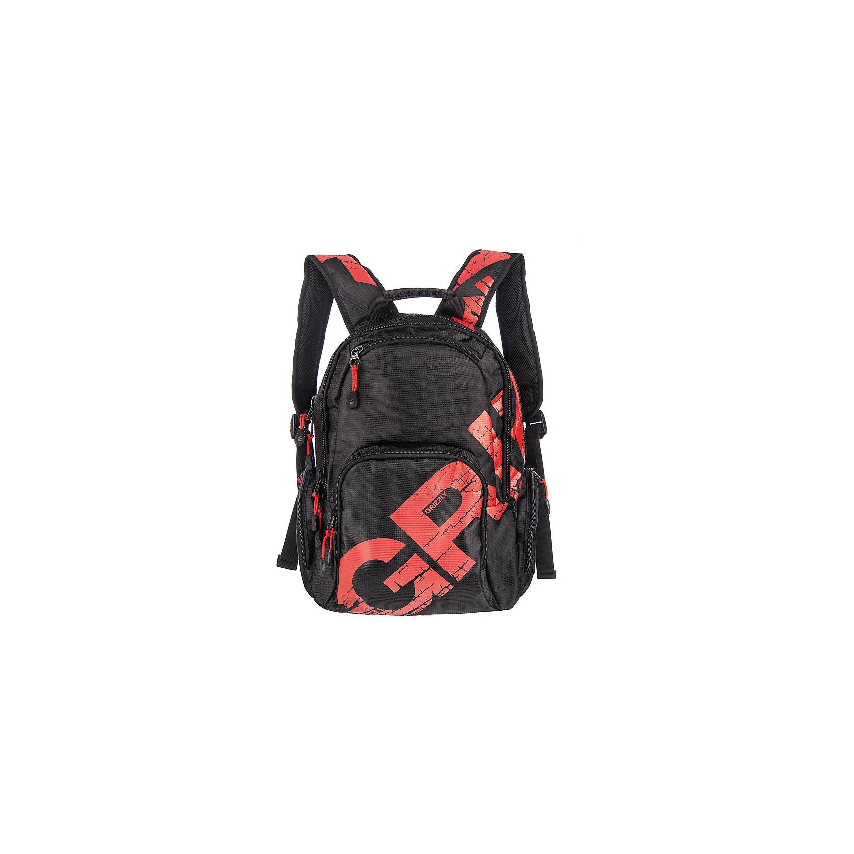 Grizzly рюкзак  2 отделенияРюкзаки<br>Рюкзак молодежный, два отделения, объемный карман на молнии на передней стенке, объемные боковые карманы на молнии, внутренний подвесной карман на молнии, <br>откидное жесткое дно, жесткая анатомическая спинка, карман быстрого доступа в верхней части рюкзака, дополнительная ручка-петля, укрепленные лямки<br>  <br>Вес, г: 935<br>Размер, см:30х42х22<br>Состав: Нейлон<br>Наличие светоотражающих элементов: нет<br>Материал: Нейлон<br>Спина:  полужесткая<br>Наличие дополнительных карманов внутри: да<br>Дно выбрать: Мягкое<br>Количество отделений внутри: 2<br>Боковые карманы:да <br>Замок:  Молния<br>Вмещает А4: да<br><br>Ширина мм: 300<br>Глубина мм: 220<br>Высота мм: 420<br>Вес г: 935<br>Возраст от месяцев: 96<br>Возраст до месяцев: 216<br>Пол: Мужской<br>Возраст: Детский<br>SKU: 6727525