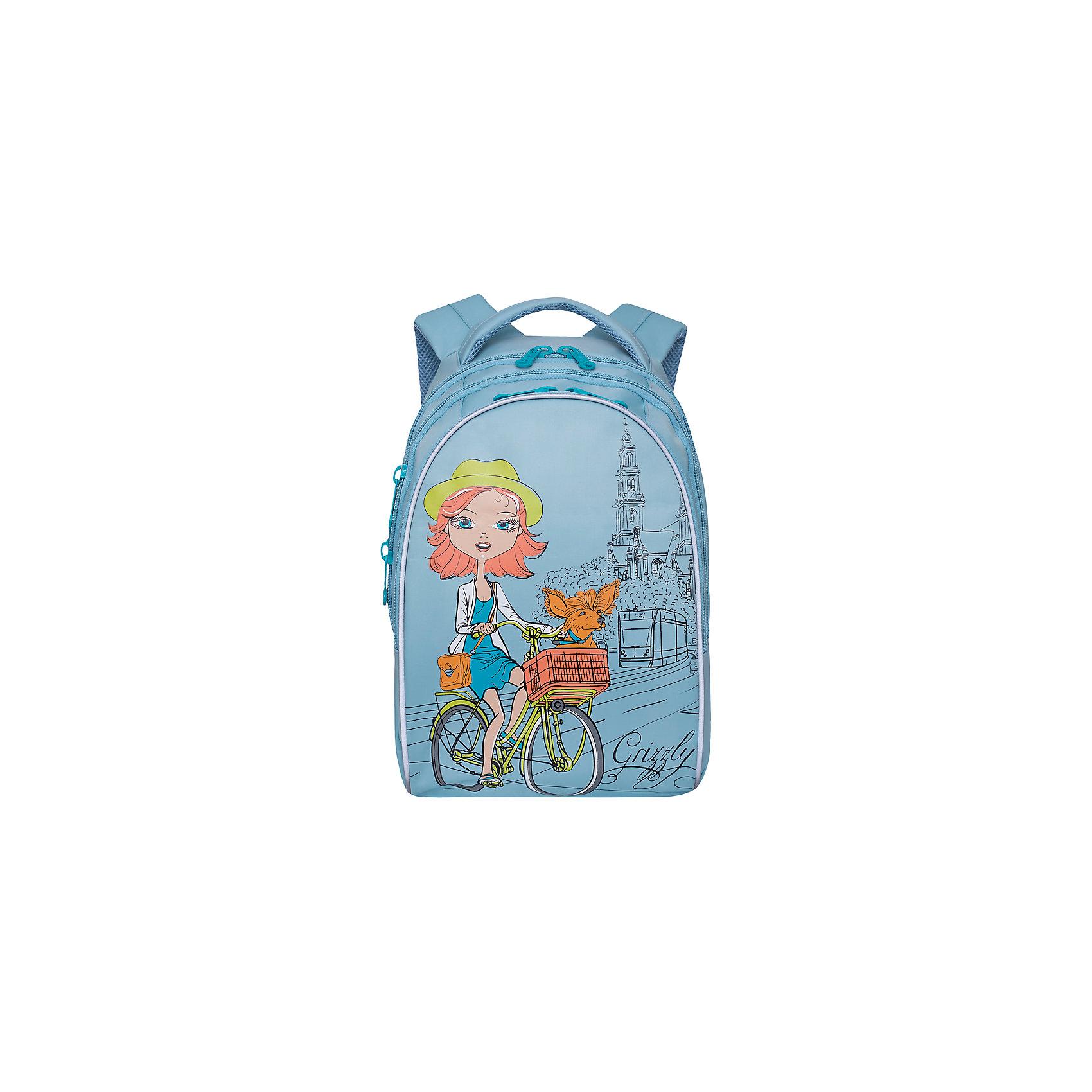 Рюкзак школьный Grizzly 3 отделенияРюкзаки<br>Рюкзак школьный, два отделения, два объемных кармана на молнии на передней стенке, боковые карманы из сетки, внутренний подвесной карман на молнии, внутренний составной пенал-органайзер, жесткая анатомическая спинка, дополнительная ручка-петля, мягкая укрепленная ручка, укрепленные лямки, светоотражающие элементы с четырех сторон.<br>Вес, г: 1020<br>Размер, см: 28х41х20<br>Состав: Нейлон<br>Наличие светоотражающих элементов:  нет<br>Материал: Нейлон<br>Спина:  полужесткая<br>Наличие дополнительных карманов внутри:  да<br>Дно выбрать:  Мягкое<br>Количество отделений внутри:  3<br>Боковые карманы: да<br>Замок:  Молния<br>Вмещает А4:  да<br><br>Ширина мм: 280<br>Глубина мм: 200<br>Высота мм: 410<br>Вес г: 910<br>Возраст от месяцев: 72<br>Возраст до месяцев: 144<br>Пол: Женский<br>Возраст: Детский<br>SKU: 6727532