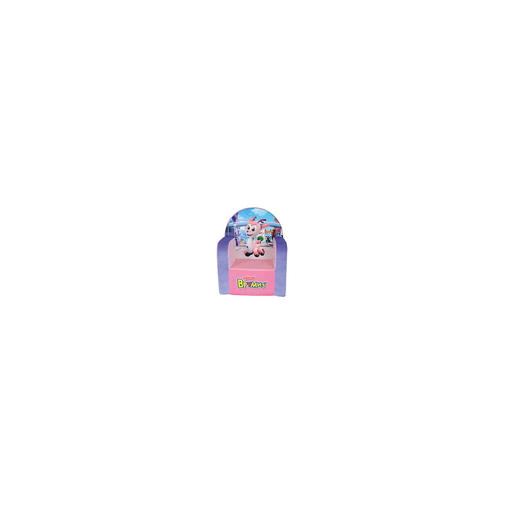 Кресло Врумиз, Small Toys, розовыйДетские мягкие кресла<br>Характеристики:<br><br>• Материал верх: текстиль, 100% <br>• Материал наполнитель: поролон, 100%<br>• Коллекция: Врумиз<br>• Съемный чехол<br>• Повышенная устойчивость<br>• Эргономичная форма<br>• Вес: 1 кг 075 г<br>• Размеры (Д*Ш*В): 36*42*53 см<br>• Особенности ухода: сухая и влажная чистка<br><br>Кресло, Врумиз, розовый выполнено в классической форме, в качестве каркаса использован упругий поролон. Сверху имеется съемный чехол, на который нанесены сюжеты из мультфильма Врумиз. <br><br>Изображение не блекнет и не меняет цвета даже при длительном использовании и частых стирках. Мягкое кресло имеет широкое днище, за счет чего обеспечивается повышенная устойчивость. Подлокотники имеют округую форму.<br><br>Кресло, Врумиз, розовый можно купить в нашем интернет-магазине.<br><br>Ширина мм: 360<br>Глубина мм: 420<br>Высота мм: 530<br>Вес г: 1075<br>Возраст от месяцев: 36<br>Возраст до месяцев: 1188<br>Пол: Женский<br>Возраст: Детский<br>SKU: 6727942
