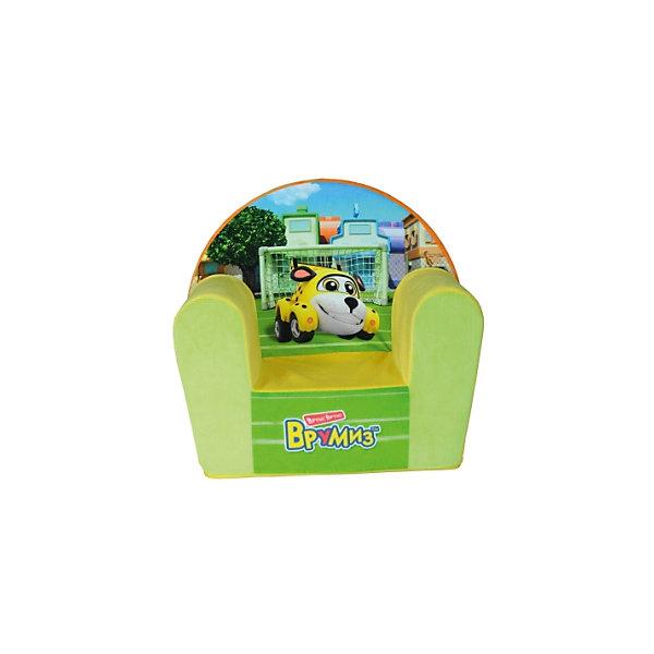 Кресло-чехол Врумиз, Small Toys,  желтыйДетские мягкие кресла<br>Характеристики:<br><br>• Материал верх: текстиль, 100% <br>• Материал наполнитель: поролон, 100%<br>• Коллекция: Врумиз<br>• Съемный чехол<br>• Повышенная устойчивость<br>• Эргономичная форма<br>• Вес: 1 кг 100 г<br>• Размеры (Д*Ш*В): 34*53*50 см<br>• Особенности ухода: сухая и влажная чистка<br><br>Кресло-чехол, Врумиз, желтый выполнено в классической форме, в качестве каркаса использован упругий поролон. Сверху имеется съемный чехол, на который нанесены сюжеты из мультфильма Врумиз. <br><br>Изображение не блекнет и не меняет цвета даже при длительном использовании и частых стирках. Мягкое кресло имеет широкое днище, за счет чего обеспечивается повышенная устойчивость. Подлокотники имеют округую форму.<br><br>Кресло-чехол, Врумиз, желтый можно купить в нашем интернет-магазине.<br><br>Ширина мм: 340<br>Глубина мм: 530<br>Высота мм: 500<br>Вес г: 1100<br>Возраст от месяцев: 36<br>Возраст до месяцев: 1188<br>Пол: Унисекс<br>Возраст: Детский<br>SKU: 6727946