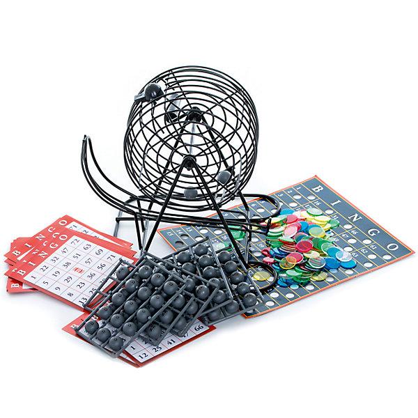 Настольная игра Лото бинго делюкс, Spin MasterСпортивные настольные игры<br>Характеристики товара:<br><br>• возраст от 6 лет;<br>• материал: картон, пластик;<br>• в комплекте: барабан, игровые карты, 75 шариков, фишки;<br>• размер упаковки 21х21х22 см;<br>• страна производитель: Китай.<br><br>Настольная игра «Лото Бинго делюкс» Spin Master представляет собой увлекательную игру в лото с барабаном. В барабан помещаются разноцветные шарики с цифрами, которые поочередно выпадают из него. У каждого игрока карточка с цифрами, которую нужно закрыть полностью. Когда выпадает нужная цифра, игрок закрывает эту цифру. Выиграет тот, кто быстрее всех закроет свою карточку.<br><br>Настольную игру «Лото Бинго делюкс» Spin Master можно приобрести в нашем интернет-магазине.<br><br>Ширина мм: 210<br>Глубина мм: 210<br>Высота мм: 220<br>Вес г: 1033<br>Возраст от месяцев: 72<br>Возраст до месяцев: 2147483647<br>Пол: Унисекс<br>Возраст: Детский<br>SKU: 6728769