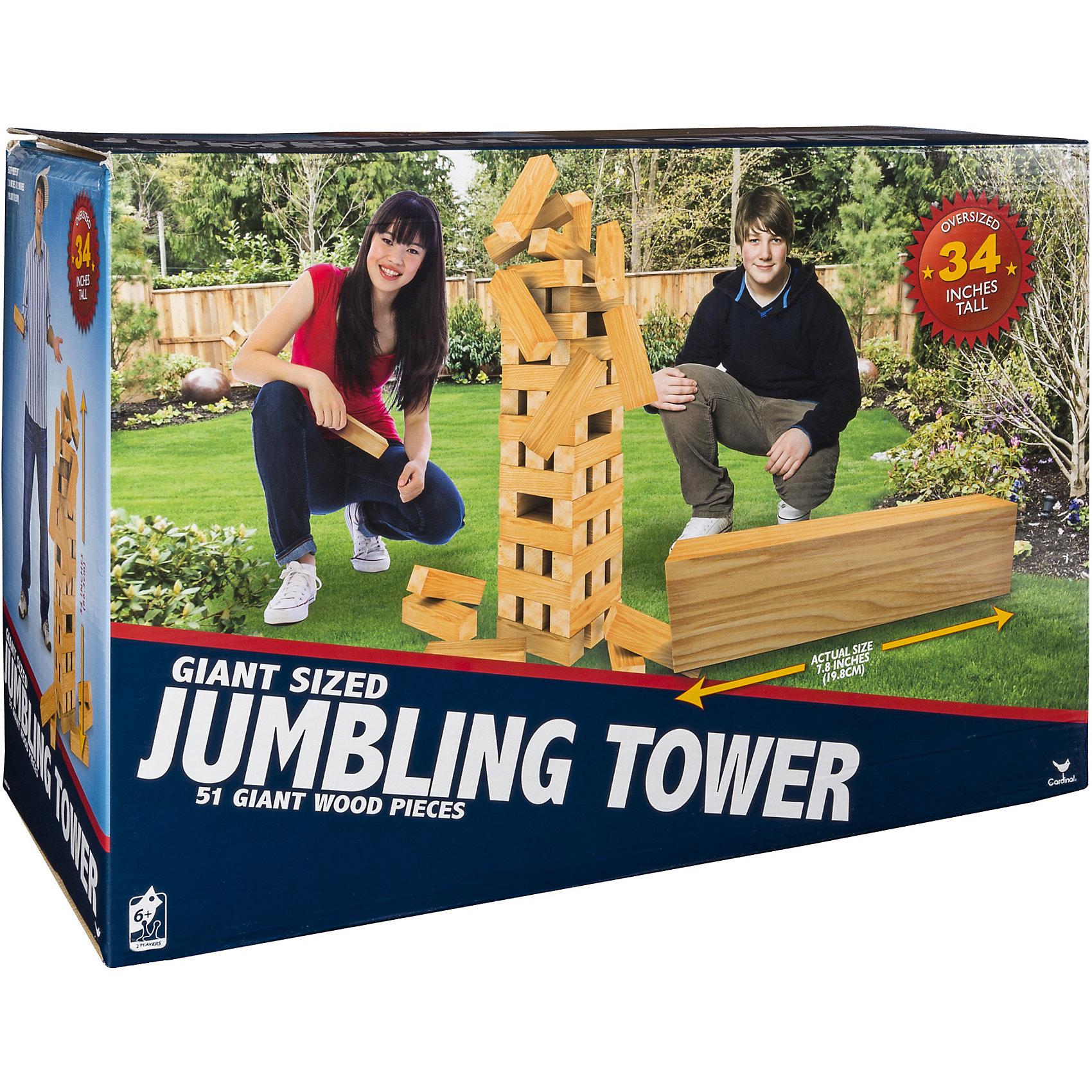 Настольная игра Падающая башня гигант, Spin MasterНастольные игры<br>Характеристики товара:<br><br>• возраст от 6 лет;<br>• материал: дерево;<br>• в комплекте: 51 блок;<br>• максимальное количество игроков: 4 человека;<br>• размер блока 19,8 см;<br>• максимальная высота башни 86 см;<br>• размер упаковки 21х8х8 см;<br>• страна производитель: Китай.<br><br>Настольная игра «Падающая башня гигант» Spin Master — увлекательная игра для компании до 4 человек. Цель игры — построить высокую башню, а затем убирать из нее по одному брусочку и помещать его наверх. Только следует быть аккуратным и внимательным, вынимая брусочки. Башня не должна упасть, иначе игрок проиграет. Игра тренирует внимательность, аккуратность, смекалку, ловкость. <br><br>Настольную игру «Падающая башня гигант» Spin Master можно приобрести в нашем интернет-магазине.<br><br>Ширина мм: 150<br>Глубина мм: 150<br>Высота мм: 440<br>Вес г: 3253<br>Возраст от месяцев: 72<br>Возраст до месяцев: 2147483647<br>Пол: Унисекс<br>Возраст: Детский<br>SKU: 6728776