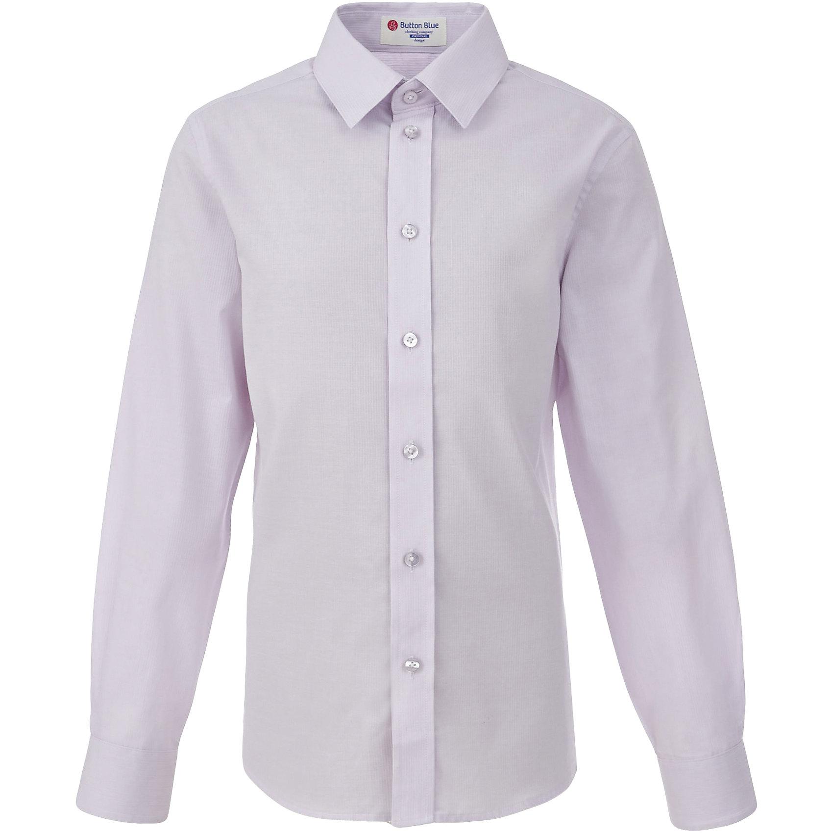 Рубашка для мальчика BUTTON BLUEБлузки и рубашки<br>Рубашка для мальчика BUTTON BLUE<br>Рубашка для мальчика - основа повседневного школьного образа! Школьные рубашки от Button Blue - это качество и комфорт, отличный внешний вид, удобство в уходе, высокая износостойкость. Какая детская рубашка для школы займет место в гардеробе вашего ребенка - зависит только от вас! Готовясь к школьному сезону, вам стоит купить рубашки в трех-четырех цветах, чтобы разнообразить будни ученика.<br>Состав:<br>60% хлопок                40% полиэстер<br><br>Ширина мм: 174<br>Глубина мм: 10<br>Высота мм: 169<br>Вес г: 157<br>Цвет: фиолетовый<br>Возраст от месяцев: 156<br>Возраст до месяцев: 168<br>Пол: Мужской<br>Возраст: Детский<br>Размер: 158,146,152,164,122,128,134,140<br>SKU: 6739126