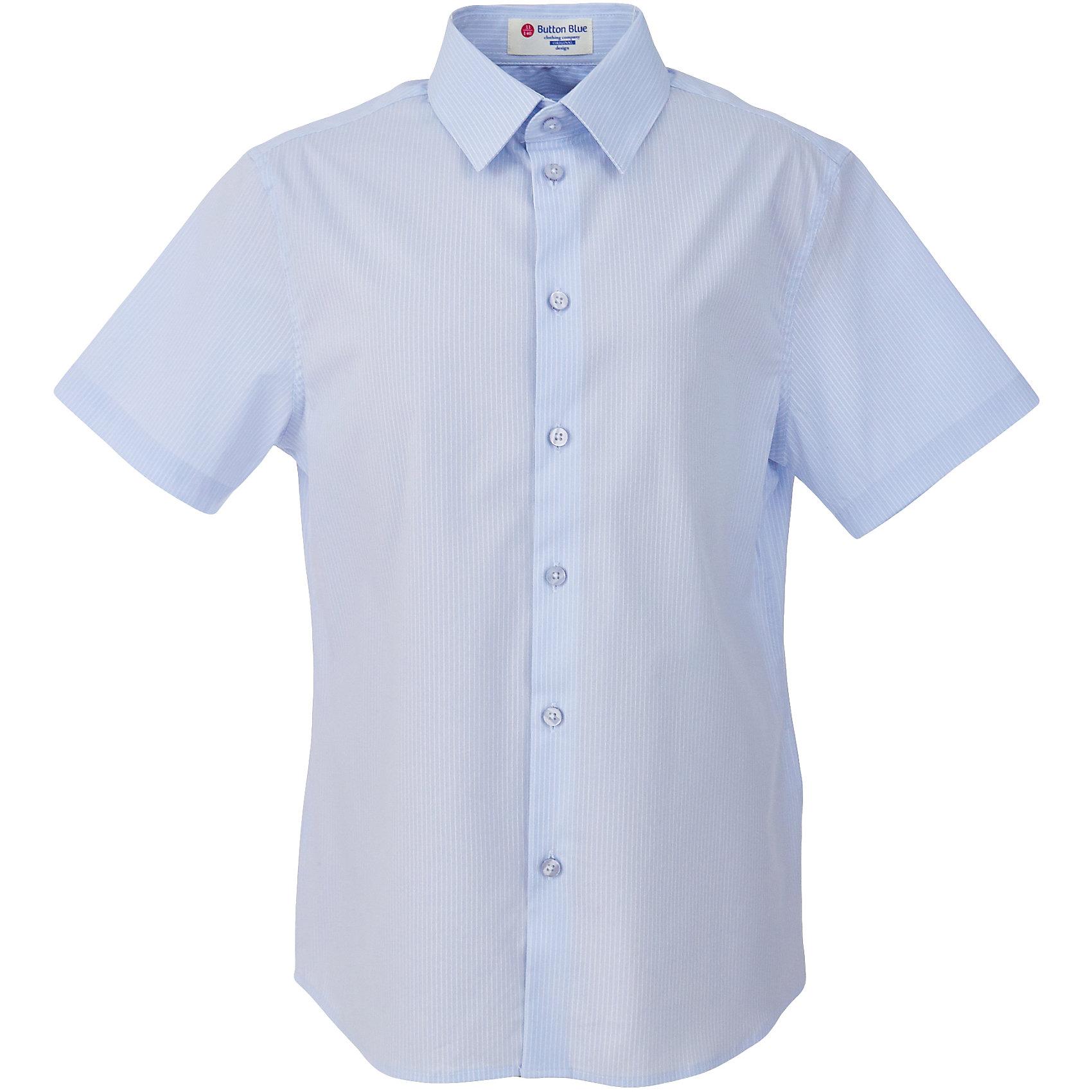 Рубашка для мальчика BUTTON BLUEБлузки и рубашки<br>Рубашка для мальчика BUTTON BLUE<br>Рубашка для мальчика - основа повседневного школьного образа! Школьные рубашки от Button Blue - это качество и комфорт, отличный внешний вид, удобство в уходе, высокая износостойкость. Какая детская рубашка для школы займет место в гардеробе вашего ребенка - зависит только от вас! Готовясь к школьному сезону, вам стоит купить рубашки в трех-четырех цветах, чтобы разнообразить будни ученика.<br>Состав:<br>61% хлопок                            36% нейлон  3%эластан<br><br>Ширина мм: 174<br>Глубина мм: 10<br>Высота мм: 169<br>Вес г: 157<br>Цвет: голубой в полоску<br>Возраст от месяцев: 156<br>Возраст до месяцев: 168<br>Пол: Мужской<br>Возраст: Детский<br>Размер: 164,122,128,134,140,146,152,158<br>SKU: 6739144