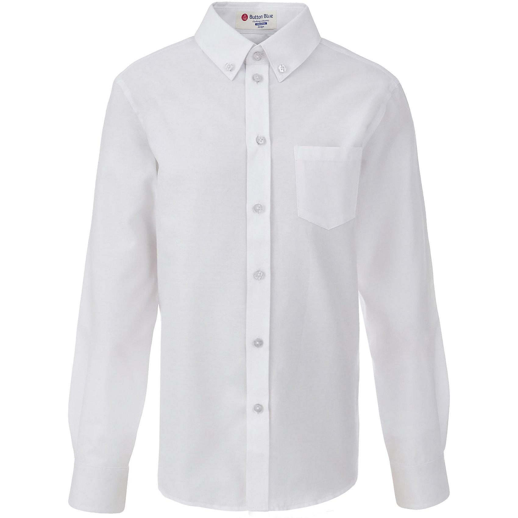 Рубашка для мальчика BUTTON BLUEБлузки и рубашки<br>Рубашка для мальчика BUTTON BLUE<br>Рубашка для мальчика - основа повседневного школьного образа! Школьные рубашки от Button Blue - это качество и комфорт, отличный внешний вид, удобство в уходе, высокая износостойкость. Какая детская рубашка для школы займет место в гардеробе вашего ребенка - зависит только от вас! Готовясь к школьному сезону, вам стоит купить рубашки в трех-четырех цветах, чтобы разнообразить будни ученика.<br>Состав:<br>60% хлопок                40% полиэстер<br><br>Ширина мм: 174<br>Глубина мм: 10<br>Высота мм: 169<br>Вес г: 157<br>Цвет: белый<br>Возраст от месяцев: 156<br>Возраст до месяцев: 168<br>Пол: Мужской<br>Возраст: Детский<br>Размер: 164,122,128,134,140,146,152,158<br>SKU: 6739153