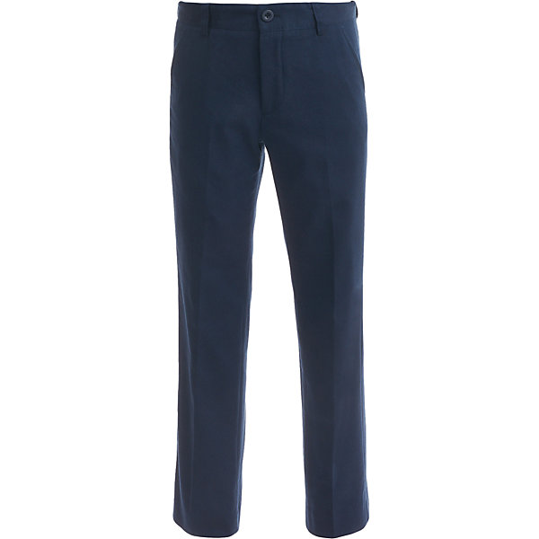 Брюки для мальчика BUTTON BLUEБрюки<br>Брюки для мальчика BUTTON BLUE<br>Школьные брюки от Button Blue - основа повседневного гардероба ученика. Брюки для школы практичны, хорошо сидят, не мешают свободе движений, обеспечивая ежедневный комфорт. Купить школьные брюки для мальчика стоит вместе с пиджаком, рубашкой, водолазкой, жилетом, создав несколько удобных и элегантных комплектов и на каждый день, и для торжественных случаев.<br>Состав:<br>38% хлопок,                      32% вискоза,                               23% полиэстер                               7% шерсть                     подкл.:  50% вискоза           50% полиэстер<br><br>Ширина мм: 215<br>Глубина мм: 88<br>Высота мм: 191<br>Вес г: 336<br>Цвет: синий<br>Возраст от месяцев: 72<br>Возраст до месяцев: 84<br>Пол: Мужской<br>Возраст: Детский<br>Размер: 122,164,146,140,134,128,158,152<br>SKU: 6739251