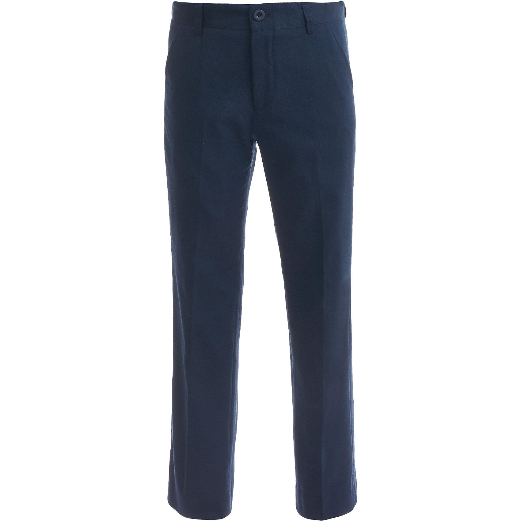 Брюки для мальчика BUTTON BLUEБрюки<br>Брюки для мальчика BUTTON BLUE<br>Школьные брюки от Button Blue - основа повседневного гардероба ученика. Брюки для школы практичны, хорошо сидят, не мешают свободе движений, обеспечивая ежедневный комфорт. Купить школьные брюки для мальчика стоит вместе с пиджаком, рубашкой, водолазкой, жилетом, создав несколько удобных и элегантных комплектов и на каждый день, и для торжественных случаев.<br>Состав:<br>38% хлопок,                      32% вискоза,                               23% полиэстер                               7% шерсть                     подкл.:  50% вискоза           50% полиэстер<br><br>Ширина мм: 215<br>Глубина мм: 88<br>Высота мм: 191<br>Вес г: 336<br>Цвет: синий<br>Возраст от месяцев: 156<br>Возраст до месяцев: 168<br>Пол: Мужской<br>Возраст: Детский<br>Размер: 128,164,122,134,140,146,152,158<br>SKU: 6739251