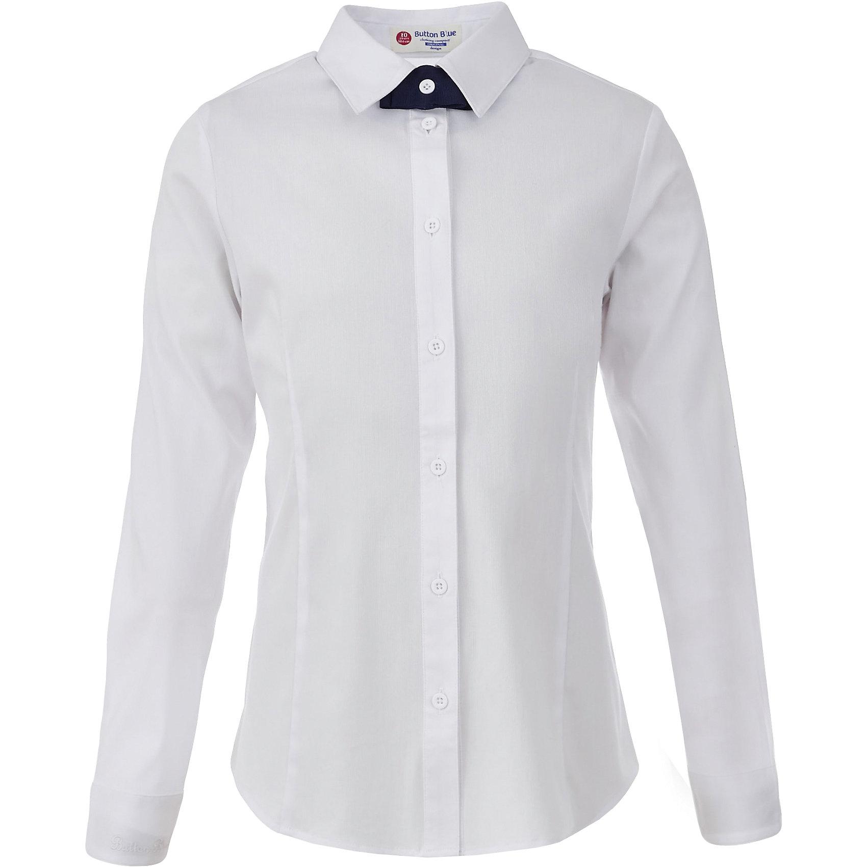 Блузка для девочки BUTTON BLUEБлузки и рубашки<br>Блузка для девочки BUTTON BLUE<br>Блузки для школы купить не сложно, но выбрать модель, сочетающую прекрасный состав, элегантный дизайн, привлекательную цену, не так уж и легко. Купить красивую школьную блузку для девочки недорого возможно, если это блузка от Button Blue! Не откладывайте покупку! Белая школьная блузка с бантиком понадобится 1 сентября как никогда, придав образу торжественность и элегантность.<br>Состав:<br>61% хлопок,  36%нейлон,                3% эластан<br><br>Ширина мм: 186<br>Глубина мм: 87<br>Высота мм: 198<br>Вес г: 197<br>Цвет: белый<br>Возраст от месяцев: 156<br>Возраст до месяцев: 168<br>Пол: Женский<br>Возраст: Детский<br>Размер: 164,122,128,134,140,146,152,158<br>SKU: 6739330