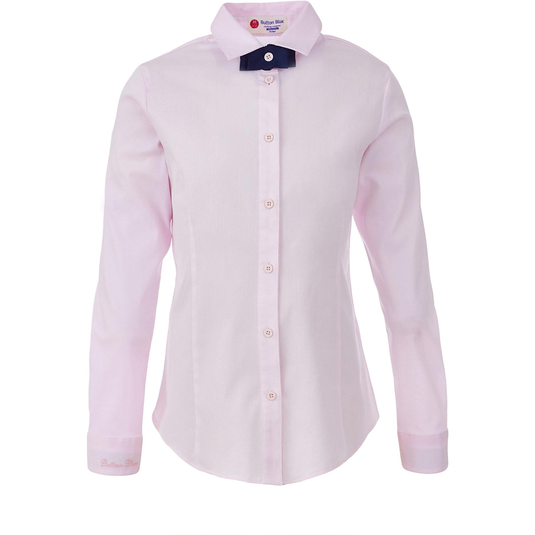 Блузка для девочки BUTTON BLUEБлузки и рубашки<br>Блузка для девочки BUTTON BLUE<br>Блузки для школы купить не сложно, но выбрать модель, сочетающую прекрасный состав, элегантный дизайн, привлекательную цену, не так уж и легко. Купить красивую школьную блузку для девочки недорого возможно, если это блузка от Button Blue!  Розовая школьная блузка с бантиком сделает каждый день ребенка комфортным!<br>Состав:<br>61% хлопок,  36%нейлон,                3% эластан<br><br>Ширина мм: 186<br>Глубина мм: 87<br>Высота мм: 198<br>Вес г: 197<br>Цвет: розовый<br>Возраст от месяцев: 156<br>Возраст до месяцев: 168<br>Пол: Женский<br>Возраст: Детский<br>Размер: 164,122,128,134,140,146,152,158<br>SKU: 6739339