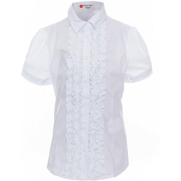 Блузка для девочки BUTTON BLUEБлузки и рубашки<br>Блузка для девочки BUTTON BLUE<br>Блузки для школы купить не сложно, но выбрать модель, сочетающую прекрасный состав, элегантный дизайн, привлекательную цену, не так уж и легко. Купить красивую школьную блузку для девочки недорого возможно, если это блузка от Button Blue! Не откладывайте покупку! Нарядная школьная блузка с коротким рукавом понадобится 1 сентября как никогда, придав образу торжественность и элегантность.<br>Состав:<br>62% хлопок,  35%нейлон,                3% эластан<br><br>Ширина мм: 186<br>Глубина мм: 87<br>Высота мм: 198<br>Вес г: 197<br>Цвет: белый<br>Возраст от месяцев: 72<br>Возраст до месяцев: 84<br>Пол: Женский<br>Возраст: Детский<br>Размер: 122,164,158,152,146,140,134,128<br>SKU: 6739348