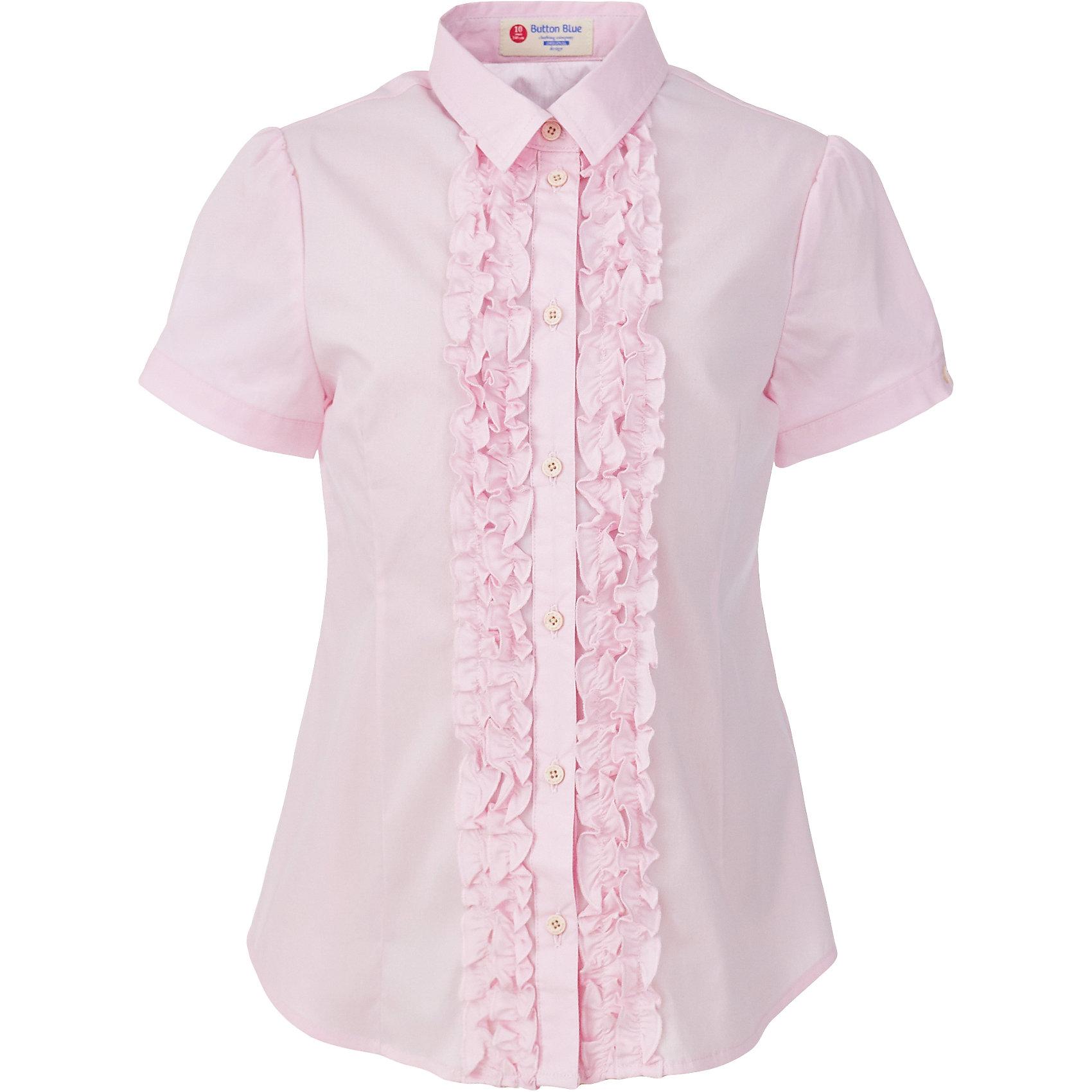 Блузка для девочки BUTTON BLUEБлузки и рубашки<br>Блузка для девочки BUTTON BLUE<br>Блузки для школы купить не сложно, но выбрать модель, сочетающую прекрасный состав, элегантный дизайн, привлекательную цену, не так уж и легко. Купить красивую школьную блузку для девочки недорого возможно, если это блузка от Button Blue! Нарядная розовая   блузка сделает каждый день ребенка комфортным!<br>Состав:<br>62% хлопок,  35%нейлон,                3% эластан<br><br>Ширина мм: 186<br>Глубина мм: 87<br>Высота мм: 198<br>Вес г: 197<br>Цвет: розовый<br>Возраст от месяцев: 96<br>Возраст до месяцев: 108<br>Пол: Женский<br>Возраст: Детский<br>Размер: 134,140,146,152,158,164,122,128<br>SKU: 6739357