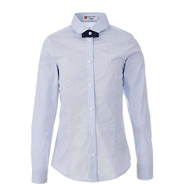 Блузка для девочки BUTTON BLUEБлузки и рубашки<br>Блузка для девочки BUTTON BLUE<br>Блузки для школы купить не сложно, но выбрать модель, сочетающую прекрасный состав, элегантный дизайн, привлекательную цену, не так уж и легко. Купить красивую школьную блузку для девочки недорого возможно, если это блузка от Button Blue! Голубая школьная блузка с бантиком сделает каждый день ребенка комфортным!<br>Состав:<br>61% хлопок,  36%нейлон,                3% эластан<br><br>Ширина мм: 186<br>Глубина мм: 87<br>Высота мм: 198<br>Вес г: 197<br>Цвет: голубой<br>Возраст от месяцев: 144<br>Возраст до месяцев: 156<br>Пол: Женский<br>Возраст: Детский<br>Размер: 158,164,152,146,140,134,128,122<br>SKU: 6739366
