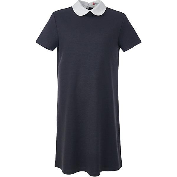 Платье для девочки BUTTON BLUEПлатья и сарафаны<br>Платье для девочки BUTTON BLUE<br>Школьные платья делают образ ученицы серьезным и элегантным. Если вы хотите купить  универсальную вещь и на каждый день, и для торжественного случая, вам стоит купить школьное платье. Трикотажное школьное платье для девочек обеспечит уют, свободу движений, удобство в повседневной носке. Белый воротник подчеркнет строгость модели и нежность ее обладательницы.<br>Состав:<br>75% полиэстер,              21% вискоза,                           4% эластан<br><br>Ширина мм: 236<br>Глубина мм: 16<br>Высота мм: 184<br>Вес г: 177<br>Цвет: серый<br>Возраст от месяцев: 72<br>Возраст до месяцев: 84<br>Пол: Женский<br>Возраст: Детский<br>Размер: 122,164,158,152,146,140,134,128<br>SKU: 6739393