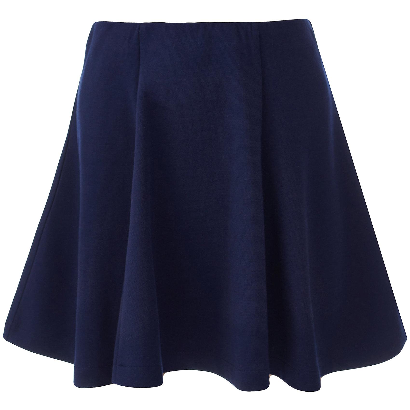 Юбка для девочки BUTTON BLUEЮбки<br>Юбка для девочки BUTTON BLUE<br>Какие юбки для девочек станут основой школьного гардероба? Те, кто уже носил юбку из плотного трикотажа знают: трикотажные школьные юбки - это удобство и свобода движений. Купить школьную юбку от Button Blue, значит, обеспечить ребенку повседневный комфорт.<br>Состав:<br>75% полиэстер, 21% вискоза,             4% эластан<br><br>Ширина мм: 207<br>Глубина мм: 10<br>Высота мм: 189<br>Вес г: 183<br>Цвет: синий<br>Возраст от месяцев: 156<br>Возраст до месяцев: 168<br>Пол: Женский<br>Возраст: Детский<br>Размер: 164,134,140,146,152,158,122,128<br>SKU: 6739438