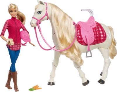 Mattel Игровой набор Barbie Кукла и лошадь мечты