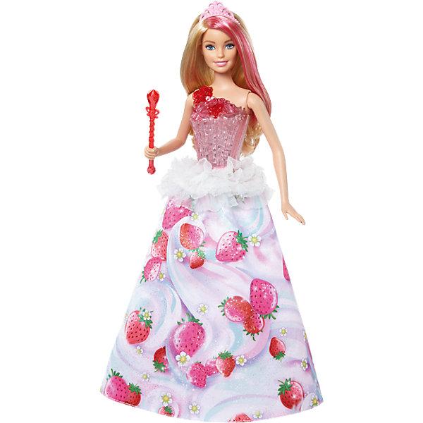 Кукла Barbie Конфетная принцесса,Barbie<br><br><br>Ширина мм: 325<br>Глубина мм: 233<br>Высота мм: 76<br>Вес г: 300<br>Возраст от месяцев: 36<br>Возраст до месяцев: 72<br>Пол: Женский<br>Возраст: Детский<br>SKU: 6739673