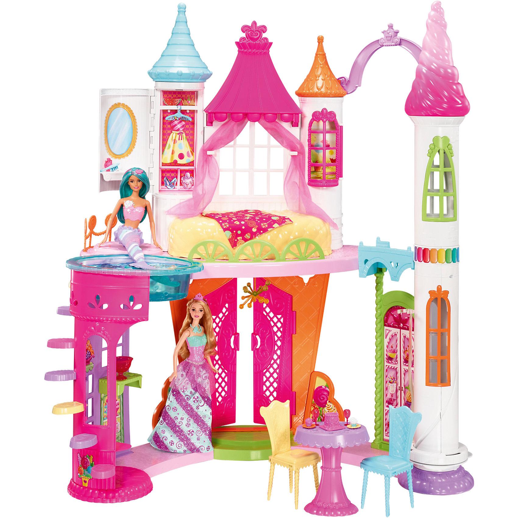 Конфетный дворец BarbieПопулярные игрушки<br><br><br>Ширина мм: 642<br>Глубина мм: 385<br>Высота мм: 190<br>Вес г: 4612<br>Возраст от месяцев: 36<br>Возраст до месяцев: 72<br>Пол: Женский<br>Возраст: Детский<br>SKU: 6739675