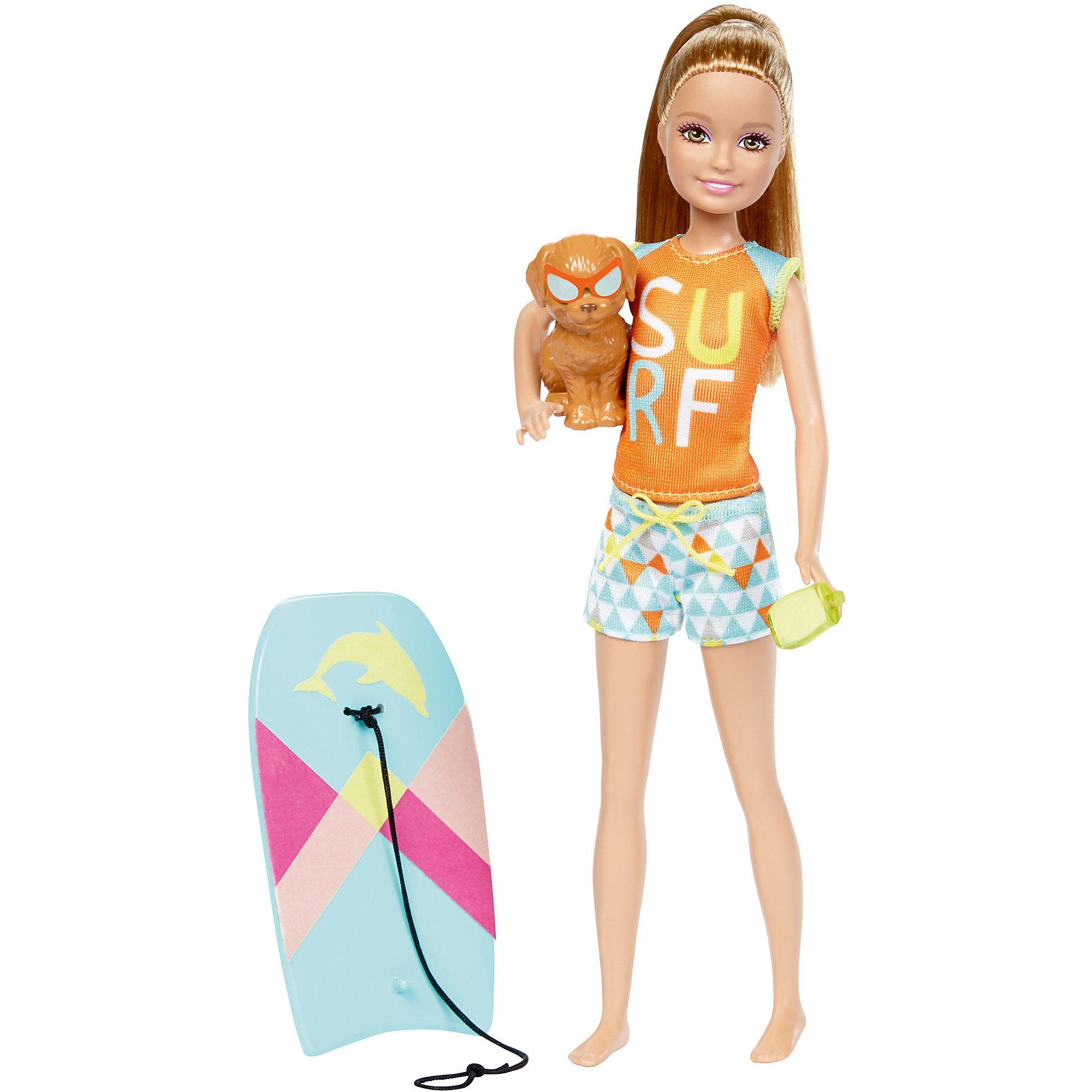 Кукла Barbie Стэйси из серии «Морские приключения»Куклы-модели<br>Характеристики товара:<br><br>• возраст: от 3 лет<br>• материал: пластик;<br>• высота куклы: 28-30 см;<br>• размер упаковки: 31X25X7 см;<br>• страна бренда: США<br>• страна изготовоитель: Китай<br><br>Кукла Stacie™ со щенком и доской для буги-бординга, которая меняет цвет. Просто нанеси теплую воду и посмотри, как цвет изменится мгновенно!<br><br>Дополнительные аксессуары - солнцезащитный крем у Stacie™— еще больше возможностей для игры. Щенок принимает милые позы и носит аксессуары, гармонирующие с?образом куклы.<br><br>Куклу Barbie Стэйси из серии «Морские приключения» можно купить в нашем интернет-магазине.<br><br>Ширина мм: 324<br>Глубина мм: 154<br>Высота мм: 38<br>Вес г: 173<br>Возраст от месяцев: 36<br>Возраст до месяцев: 72<br>Пол: Женский<br>Возраст: Детский<br>SKU: 6739679