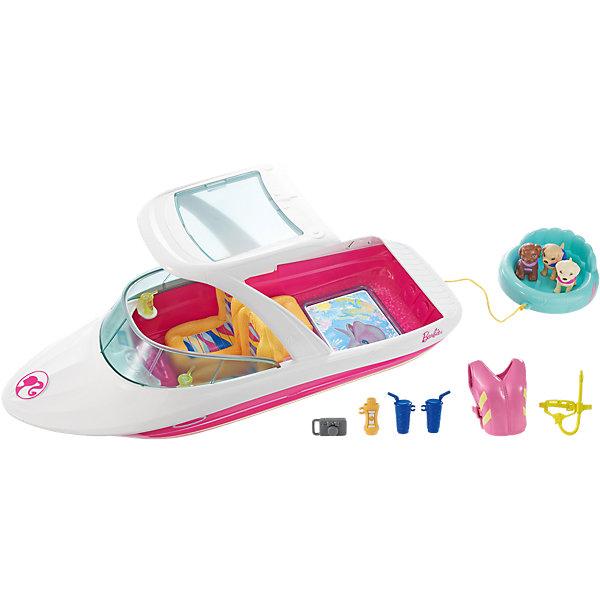 Моторная лодка с аксессуарами BarbieТранспорт и коляски для кукол<br><br>Ширина мм: 453; Глубина мм: 220; Высота мм: 185; Вес г: 984; Возраст от месяцев: 36; Возраст до месяцев: 72; Пол: Женский; Возраст: Детский; SKU: 6739683;