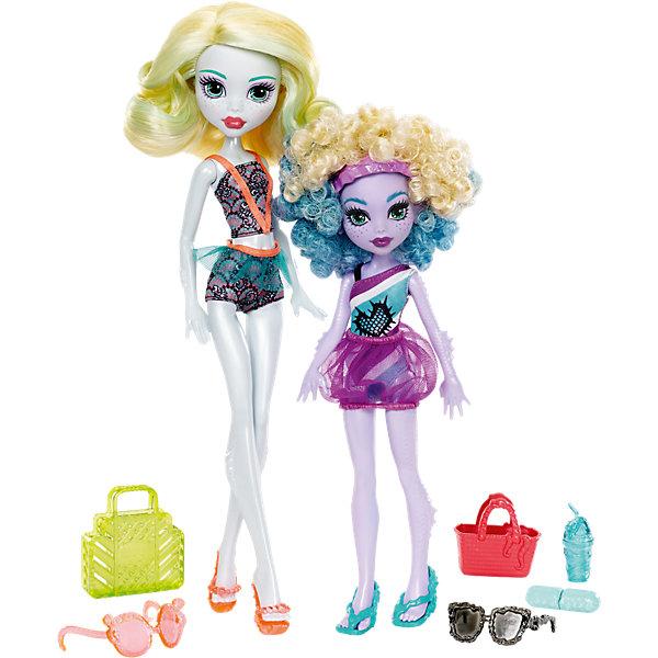 Набор кукол Monster High Лагуна Блю и ее сестра Келпи из серии Семья МонстриковКуклы<br><br><br>Ширина мм: 205<br>Глубина мм: 65<br>Высота мм: 325<br>Вес г: 627<br>Возраст от месяцев: 72<br>Возраст до месяцев: 120<br>Пол: Женский<br>Возраст: Детский<br>SKU: 6739689