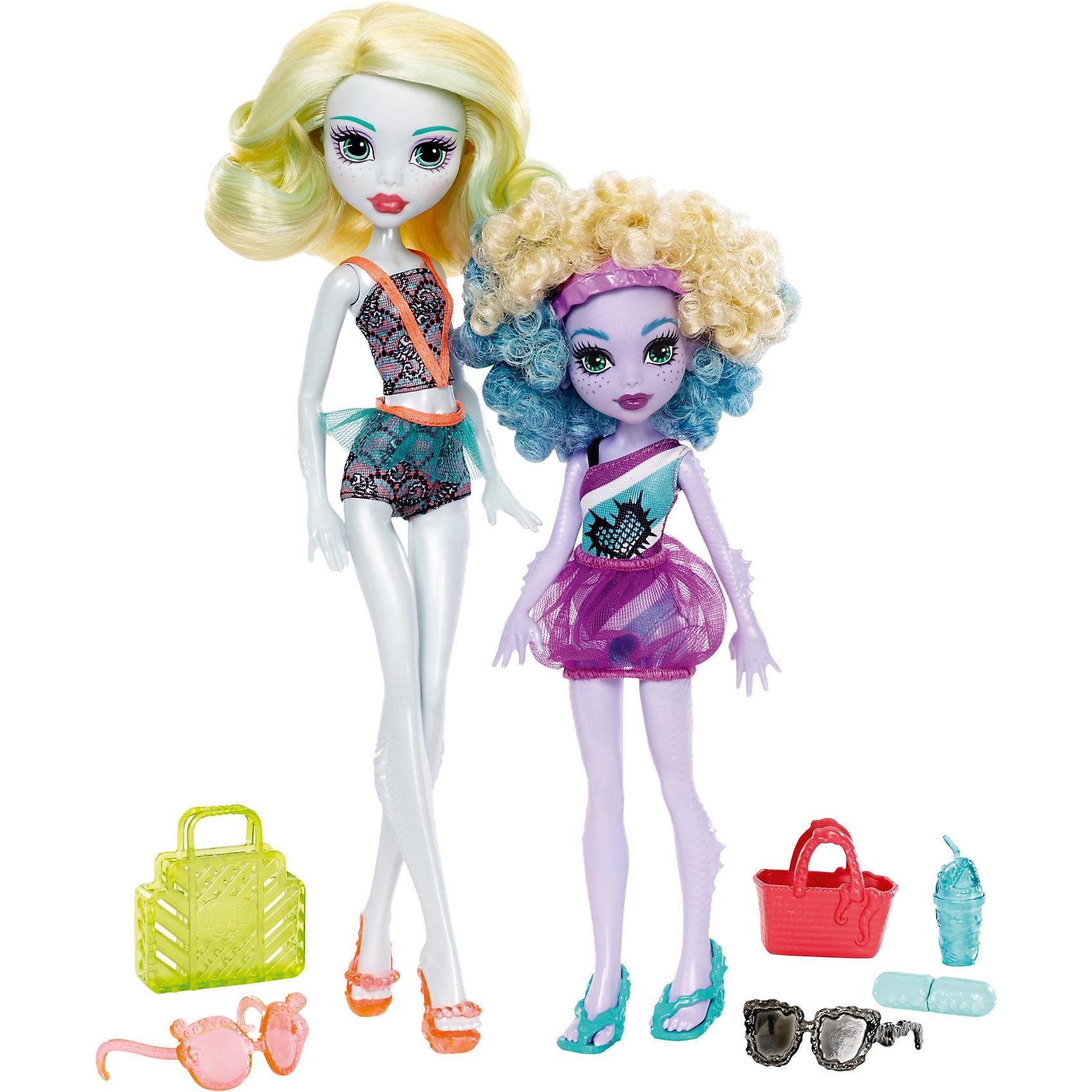 Набор кукол Monster High Лагуна Блю и ее сестра Келпи из серии Семья МонстриковКуклы-модели<br><br><br>Ширина мм: 205<br>Глубина мм: 65<br>Высота мм: 325<br>Вес г: 627<br>Возраст от месяцев: 72<br>Возраст до месяцев: 120<br>Пол: Женский<br>Возраст: Детский<br>SKU: 6739689