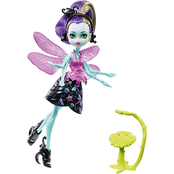 Кукла-стрекоза Monster High Вингрид с питомцемБренды кукол<br><br>Ширина мм: 190; Глубина мм: 116; Высота мм: 53; Вес г: 66; Возраст от месяцев: 72; Возраст до месяцев: 120; Пол: Женский; Возраст: Детский; SKU: 6739690;
