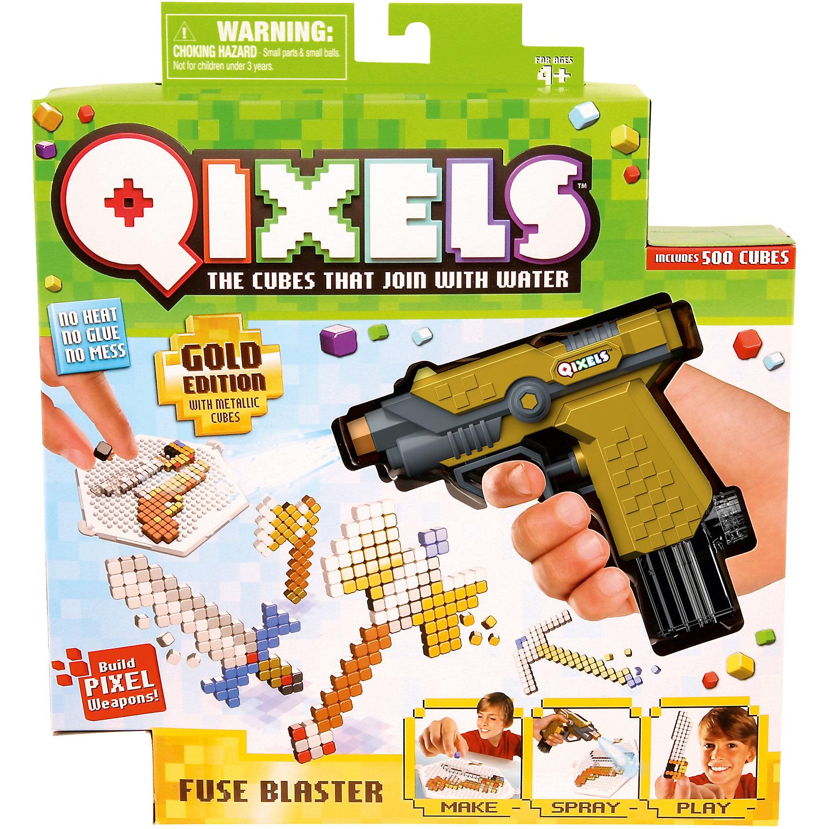 QIXELS Набор для творчества  Водяной бластерПластмассовые конструкторы<br>Qixels – кубики, которые скрепляются при помощи воды! Создай свой дизайн, сбрызни водой из водяного бластера, оставь на 30 минут и фигурка готова! Состав набора: водяной бластер, 500 кубиков, 2 дизайн лотка, 4 дизайн лекала, 2 опоры, 2 базы, емкость для кубиков и инструкция.<br><br>Ширина мм: 55<br>Глубина мм: 260<br>Высота мм: 290<br>Вес г: 423<br>Возраст от месяцев: 60<br>Возраст до месяцев: 1188<br>Пол: Унисекс<br>Возраст: Детский<br>SKU: 6742241