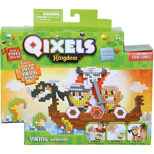 QIXELS Набор для творчества Королевство. Викинги.Пластмассовые конструкторы<br>Qixels – кубики, которые скрепляются при помощи воды! Создай свой дизайн, сбрызни водой, оставь на 30 минут и фигурка готова! Состав набора: резервуар для воды, 600 кубиков, 4 дизайн лекала, элемент с 3D дизайном (состоящий из четырех частей), опора, база, 2 аксессуара, набор стикеров, емкость для кубиков и инструкция.<br><br>Ширина мм: 60<br>Глубина мм: 230<br>Высота мм: 215<br>Вес г: 418<br>Возраст от месяцев: 60<br>Возраст до месяцев: 1188<br>Пол: Унисекс<br>Возраст: Детский<br>SKU: 6742246