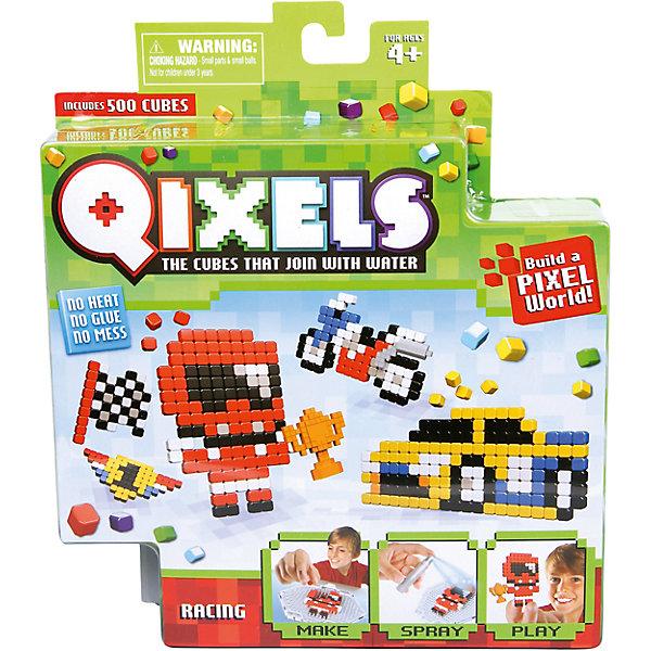 QIXELS Набор для творчества ГонкиПластмассовые конструкторы<br>Qixels – кубики, которые скрепляются при помощи воды! Создай свой дизайн, сбрызни водой, оставь на 30 минут и фигурка готова! Состав набора: резервуар для воды, 500 кубиков, 2 дизайн лекала, опора, база, 2 аксессуара, емкость для кубиков и инструкция.<br><br>Ширина мм: 40<br>Глубина мм: 185<br>Высота мм: 210<br>Вес г: 233<br>Возраст от месяцев: 60<br>Возраст до месяцев: 1188<br>Пол: Унисекс<br>Возраст: Детский<br>SKU: 6742247