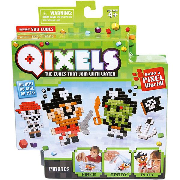 QIXELS Набор для творчества ПиратыПластмассовые конструкторы<br>Qixels – кубики, которые скрепляются при помощи воды! Создай свой дизайн, сбрызни водой, оставь на 30 минут и фигурка готова! Состав набора: резервуар для воды, 500 кубиков, 2 дизайн лекала, опора, база, 2 аксессуара, емкость для кубиков и инструкция.<br><br>Ширина мм: 40<br>Глубина мм: 185<br>Высота мм: 210<br>Вес г: 233<br>Возраст от месяцев: 60<br>Возраст до месяцев: 1188<br>Пол: Унисекс<br>Возраст: Детский<br>SKU: 6742248