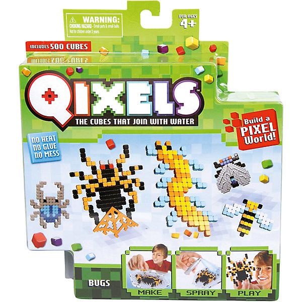 QIXELS Набор для творчества НасекомыеПластмассовые конструкторы<br>Qixels – кубики, которые скрепляются при помощи воды! Создай свой дизайн, сбрызни водой, оставь на 30 минут и фигурка готова! Состав набора: резервуар для воды, 500 кубиков, 2 дизайн лекала, опора, база, 2 аксессуара, емкость для кубиков и инструкция.<br><br>Ширина мм: 40<br>Глубина мм: 185<br>Высота мм: 210<br>Вес г: 233<br>Возраст от месяцев: 60<br>Возраст до месяцев: 1188<br>Пол: Унисекс<br>Возраст: Детский<br>SKU: 6742249