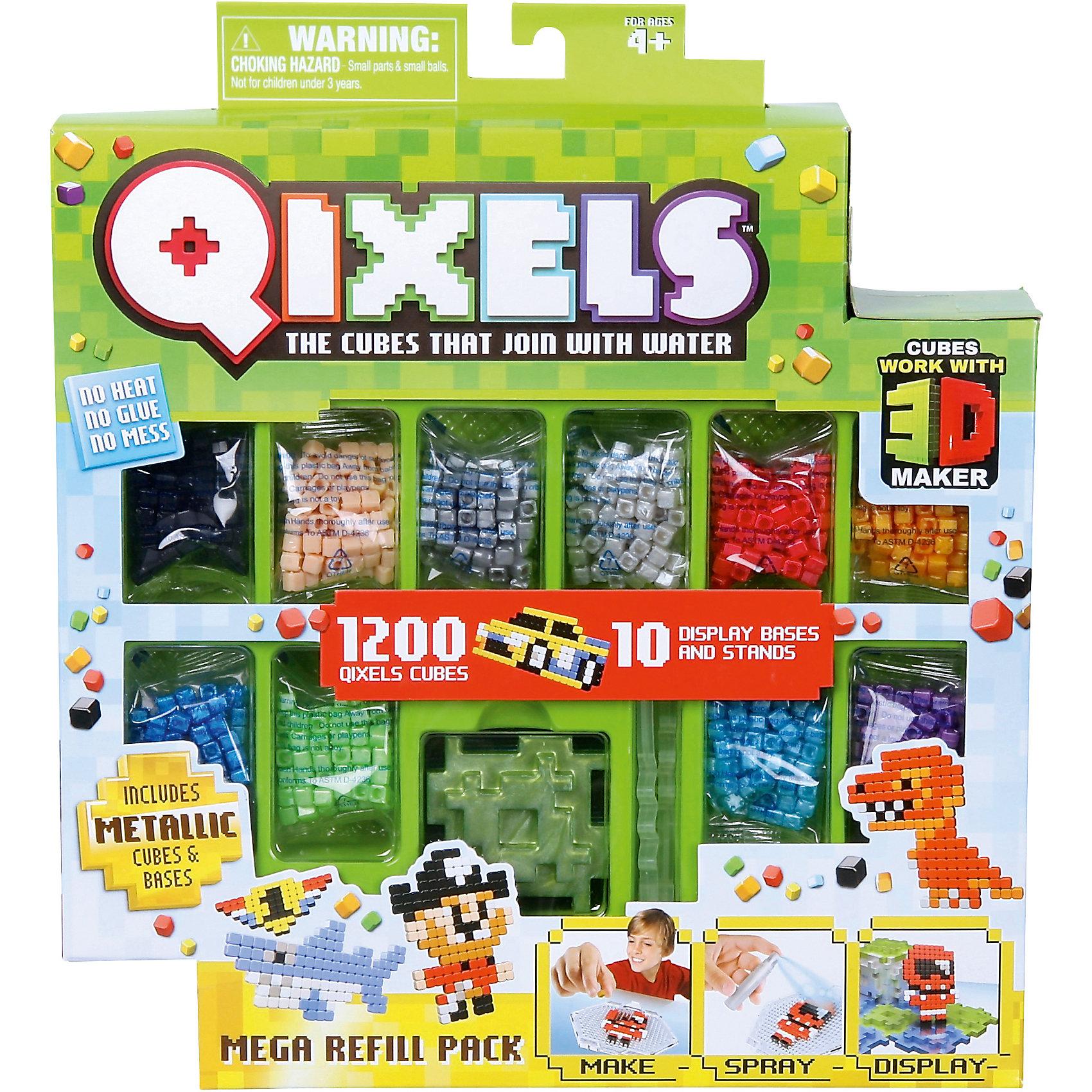 QIXELS  Дополнительный  набор кубиков QixelsНаборы 3D ручек<br>Еще больше возможностей с дополнительным набором! Состав набора: 1200 кубиков, 10 опор и 10 баз.<br><br>Ширина мм: 55<br>Глубина мм: 290<br>Высота мм: 260<br>Вес г: 493<br>Возраст от месяцев: 60<br>Возраст до месяцев: 1188<br>Пол: Унисекс<br>Возраст: Детский<br>SKU: 6742251
